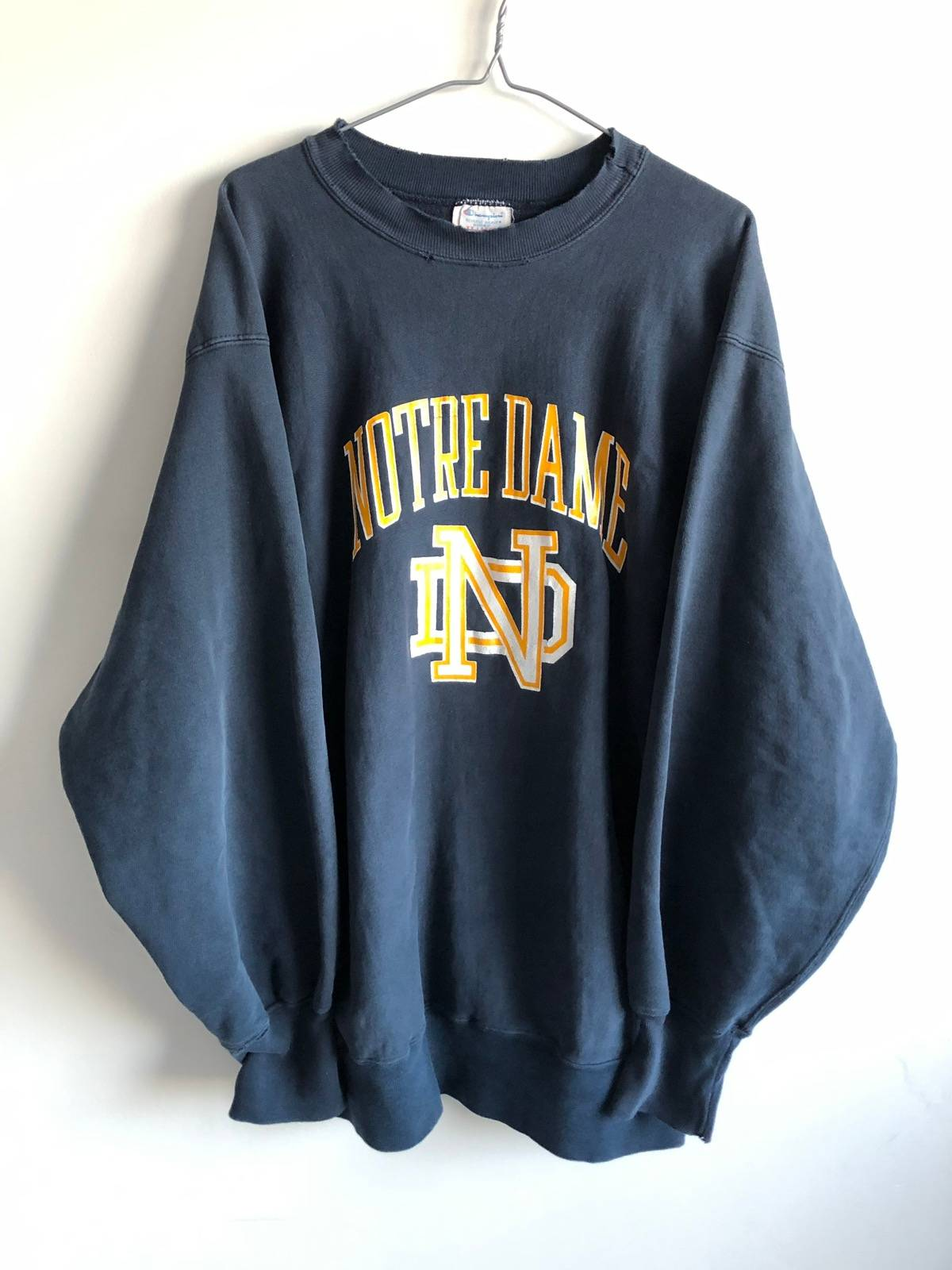 Champion Vintage Champion Notre Dame Crewneck 80's !Free Shipping! Size Xl  $31