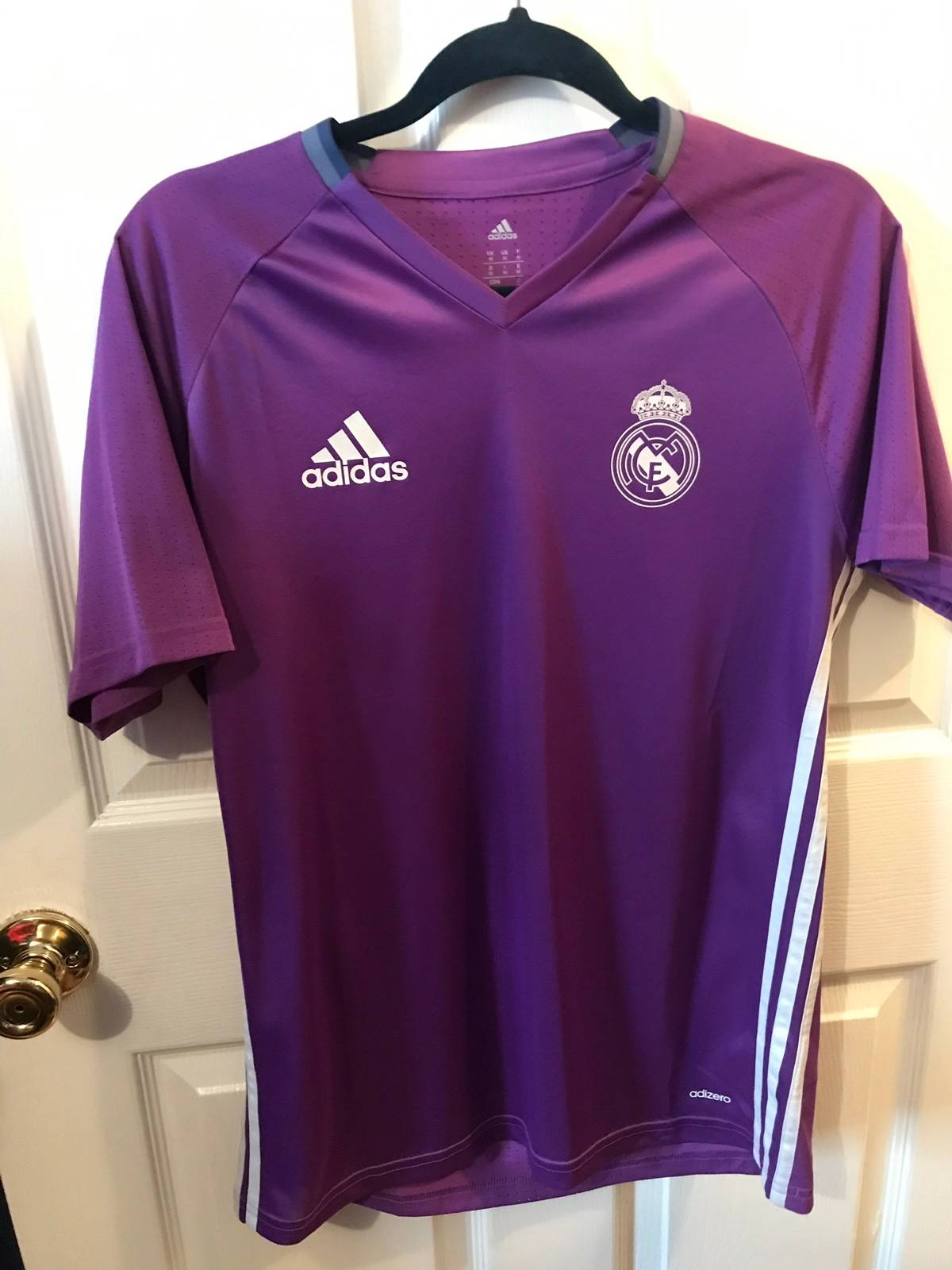 new product 95fcc 5f327 Adidas × Real Madrid × Soccer Jersey Real Madrid Adidas Training Jersey  Purple Size M $40