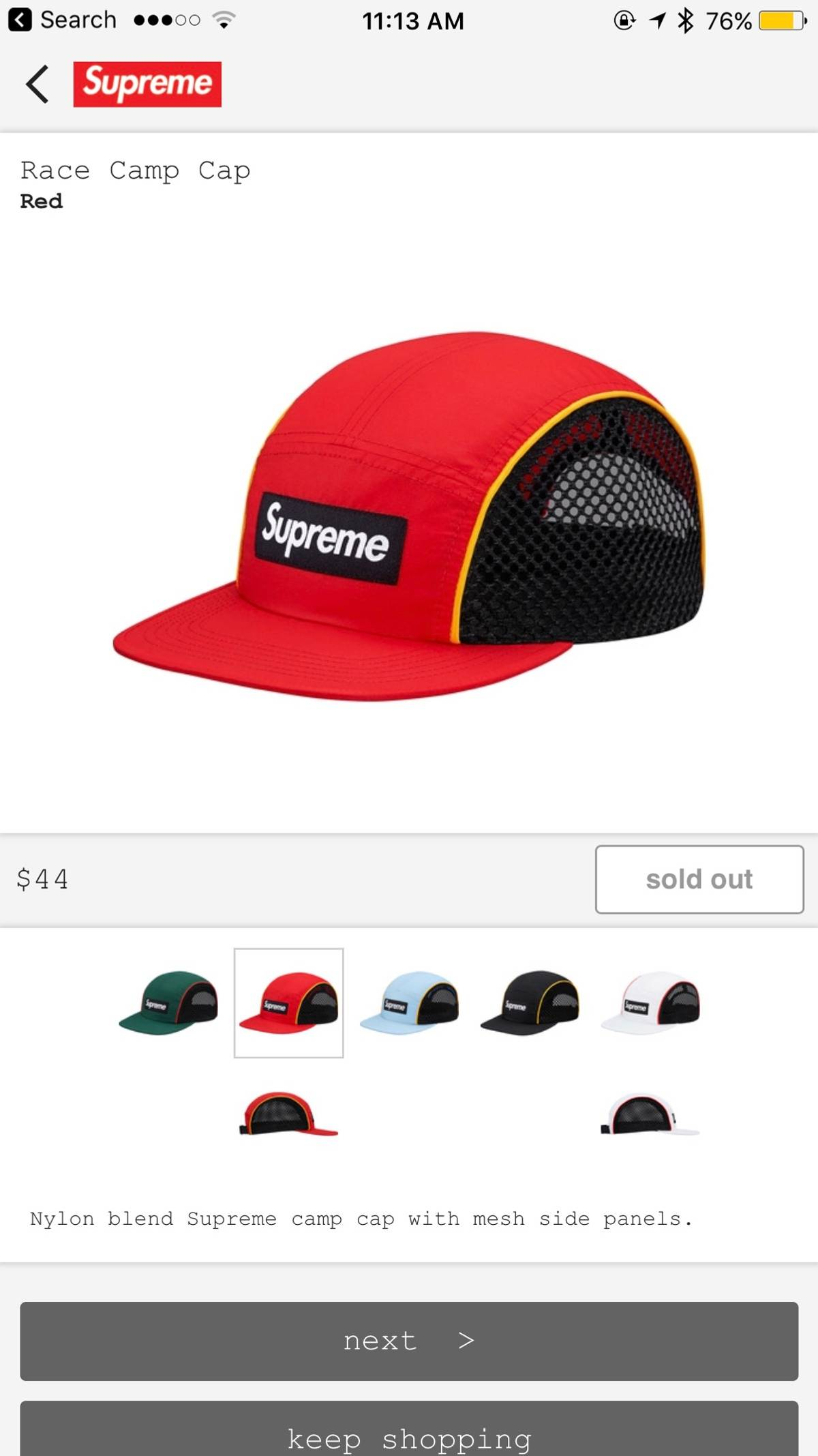 186b89e4 Supreme Lowest Price-ds Supreme Race Camp Cap-red | Grailed
