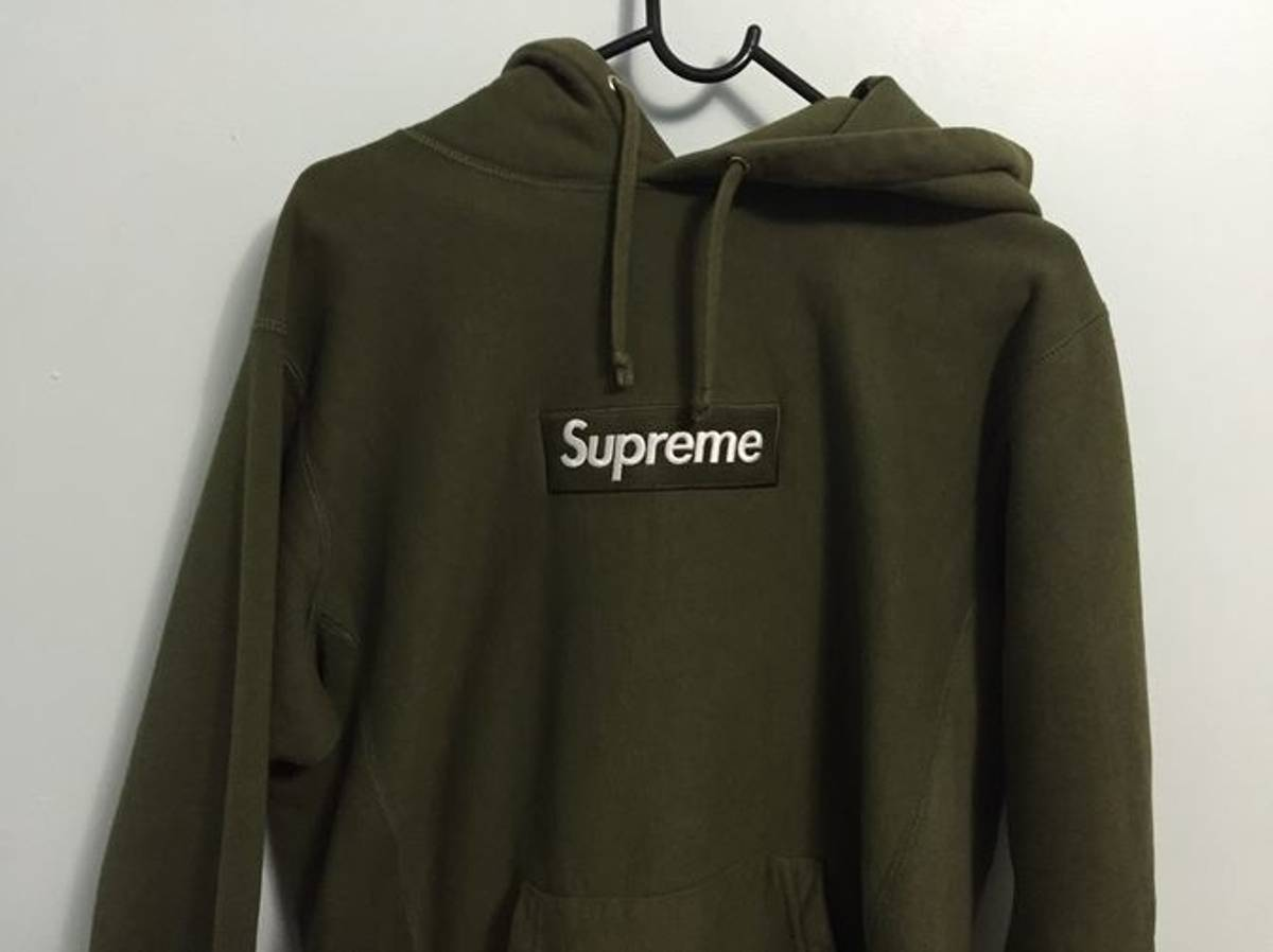 215dc11bacee Supreme Olive Box Logo Hoodie Size m - Sweatshirts   Hoodies for Sale -  Grailed