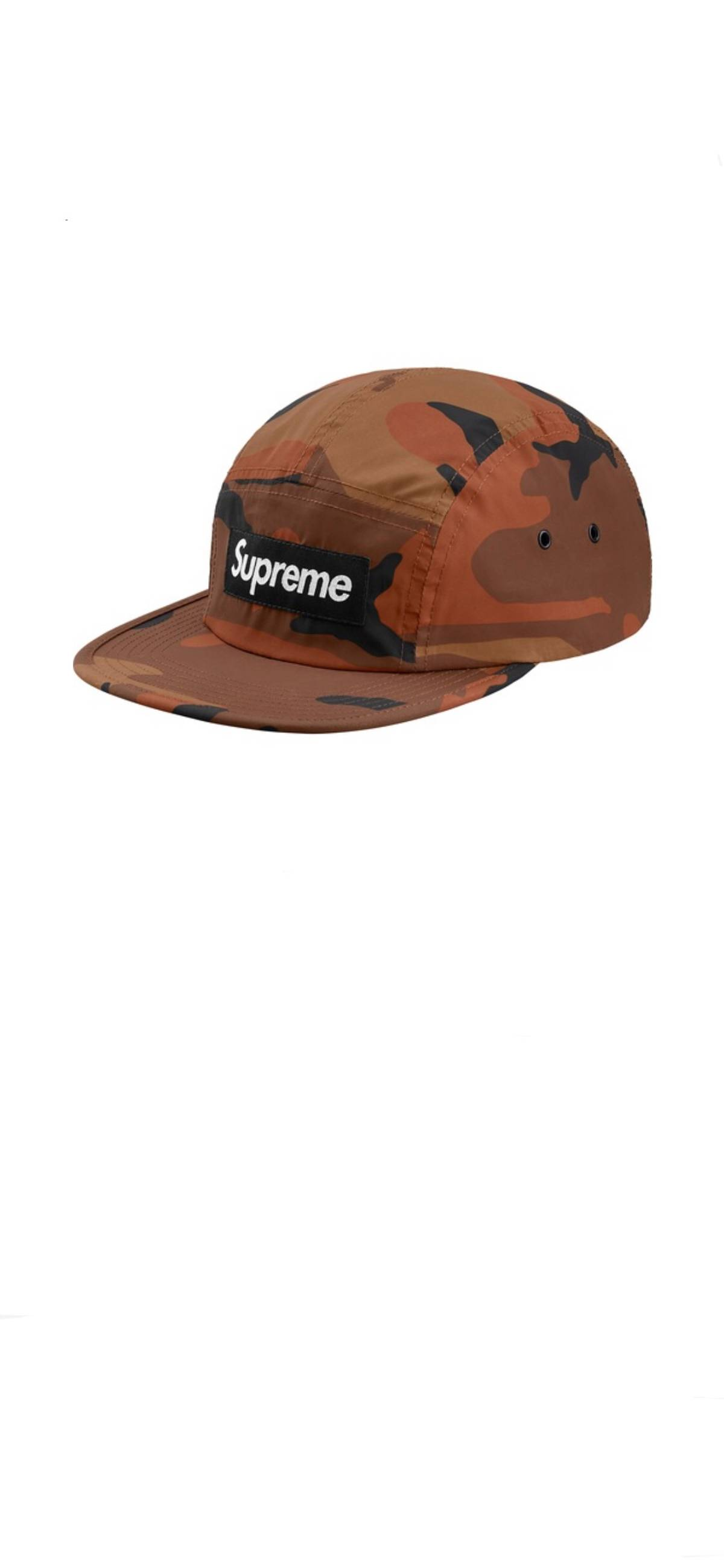 1f60211f1d7 Supreme Supreme Reflective Camo Camp Cap FW18 Orange Size one size - Hats  for Sale - Grailed
