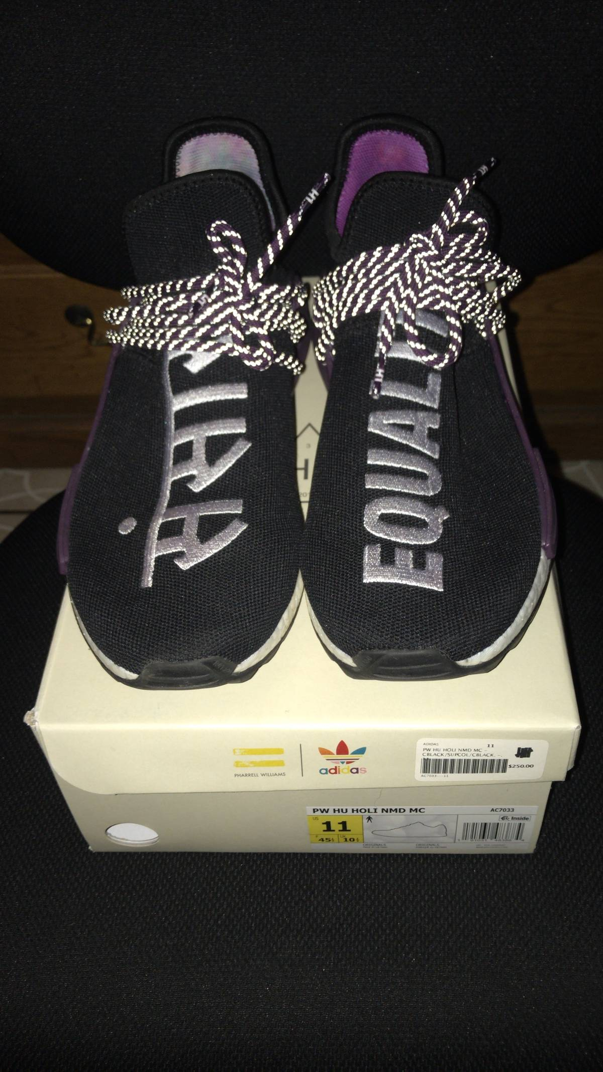 5811f990aa682 Adidas Adidas Human Race Nmd Pharrell Holi Festival (core Black ...