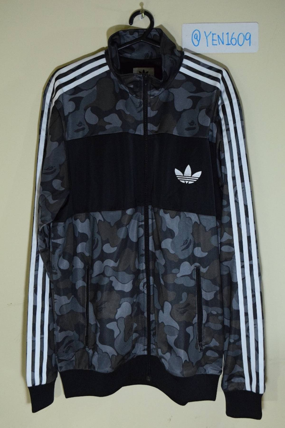 fffb2fb7 Adidas × Bape ×. Bape x Adidas ABC Camo Track Jacket Black - Size L - Very  Mint Condition ...