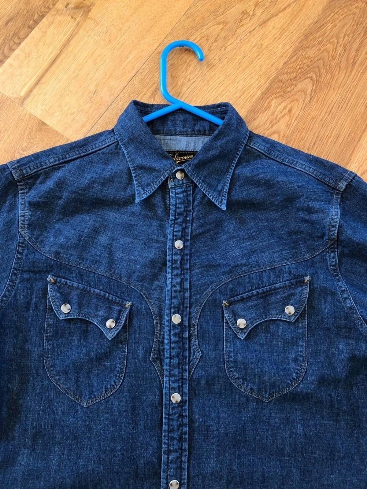 da26f4fcf3 Stevenson Overall Co. CODY WESTERN SNAP SHIRT - WASHED DOWN INDIGO DENIM  Size m - Shirts (Button Ups) for Sale - Grailed