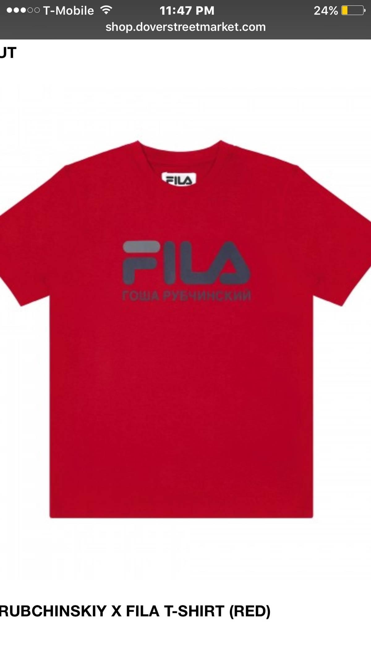 1cb573423fec Gosha Rubchinskiy × Fila ×. Gosha X Fila T Shirt