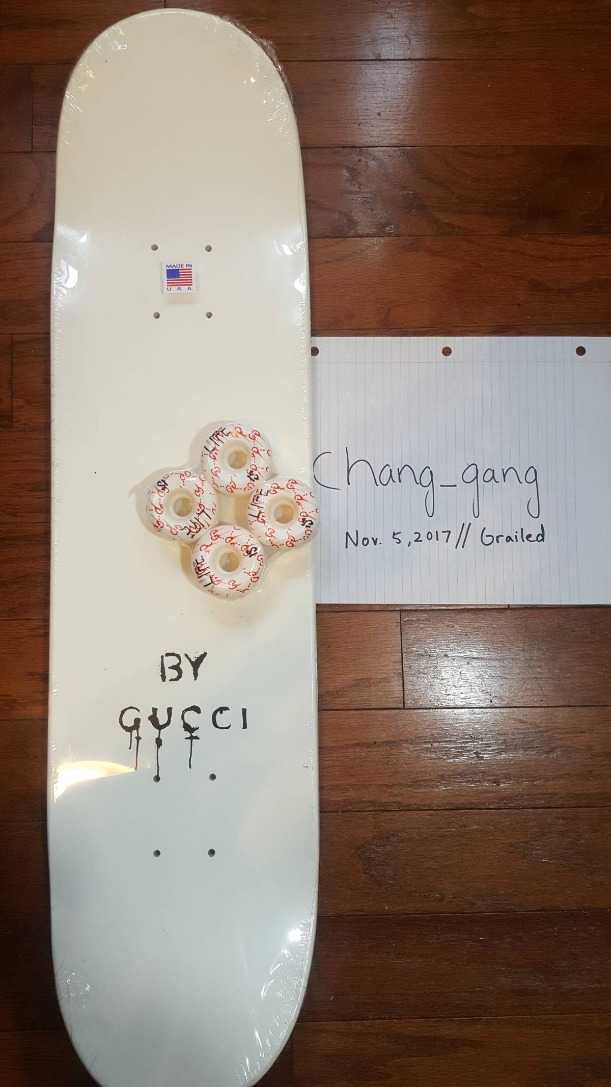 8ecd3e7b915 Gucci GUCCIGHOST® SKATEBOARD DECK AND WHEELS Size one size - Miscellaneous  for Sale - Grailed