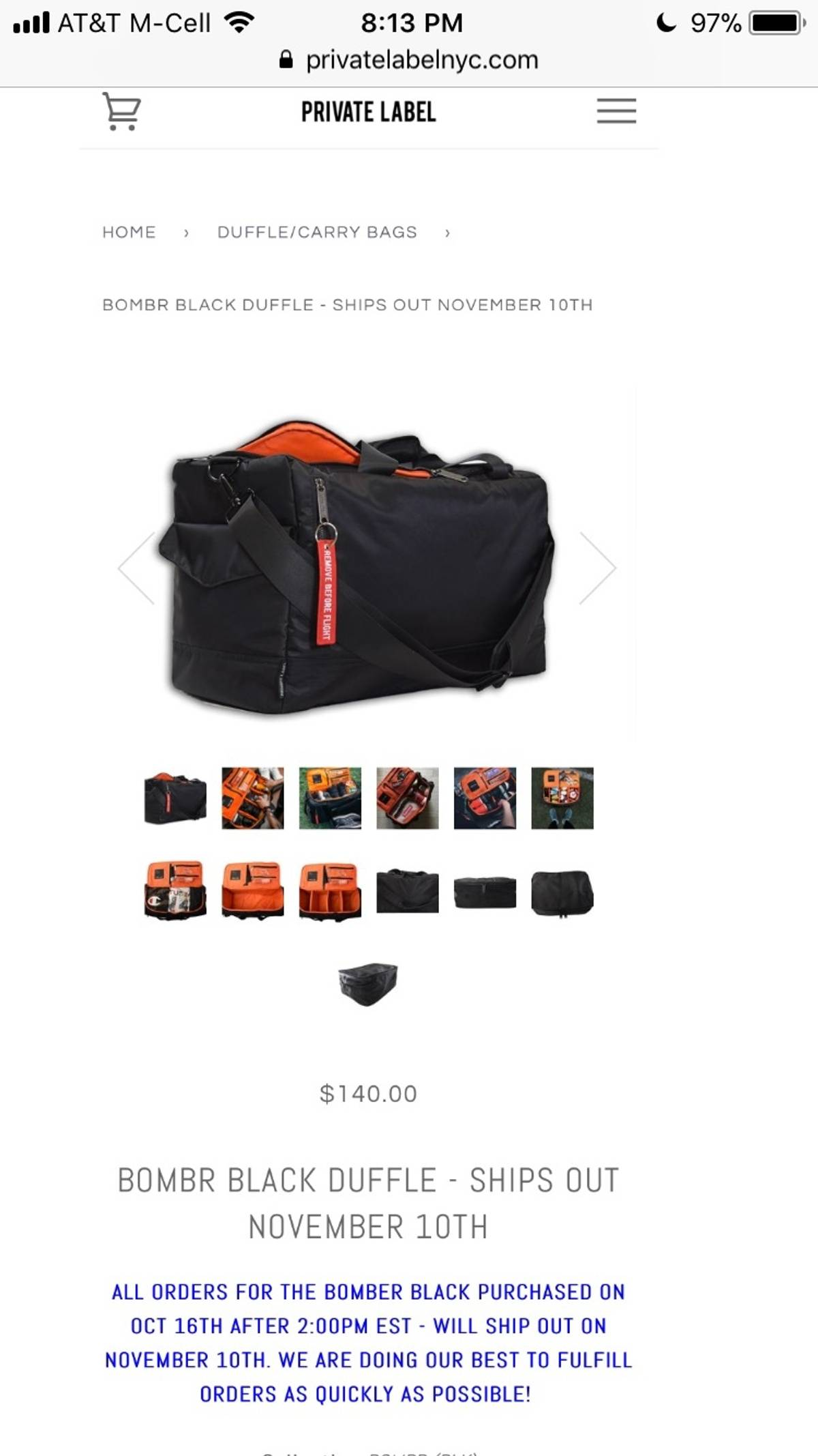 09015d6fc0e Private Label Private Label Nyc Black Bomber Bag | Grailed