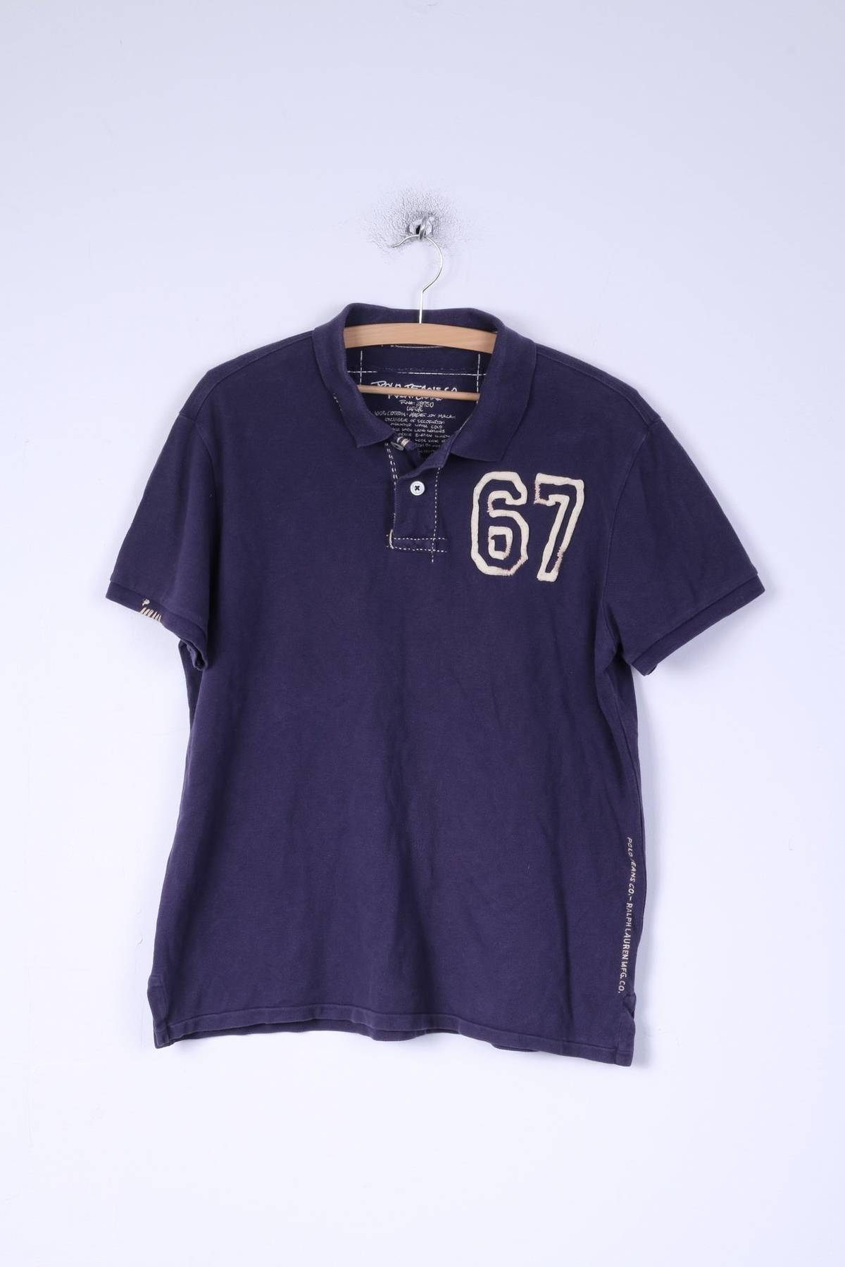 Polo Ralph Lauren Polo Jeans Ralph Lauren Mens L M Polo Shirt Navy
