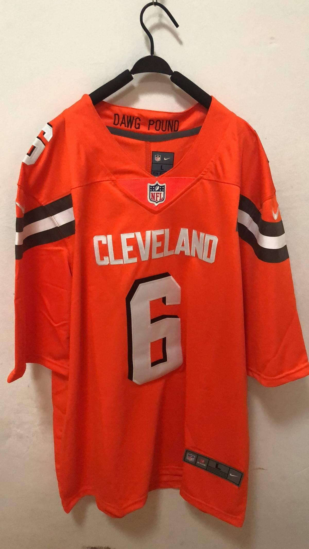 info for d1d43 ee0da Nike Browns #6 Baker Mayfield Orange Jersey Men's L Size L $34