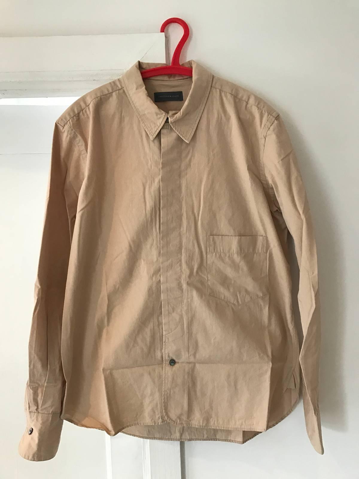 Christophe Lemaire Beige Detachable Collar Dress Shirt Size M