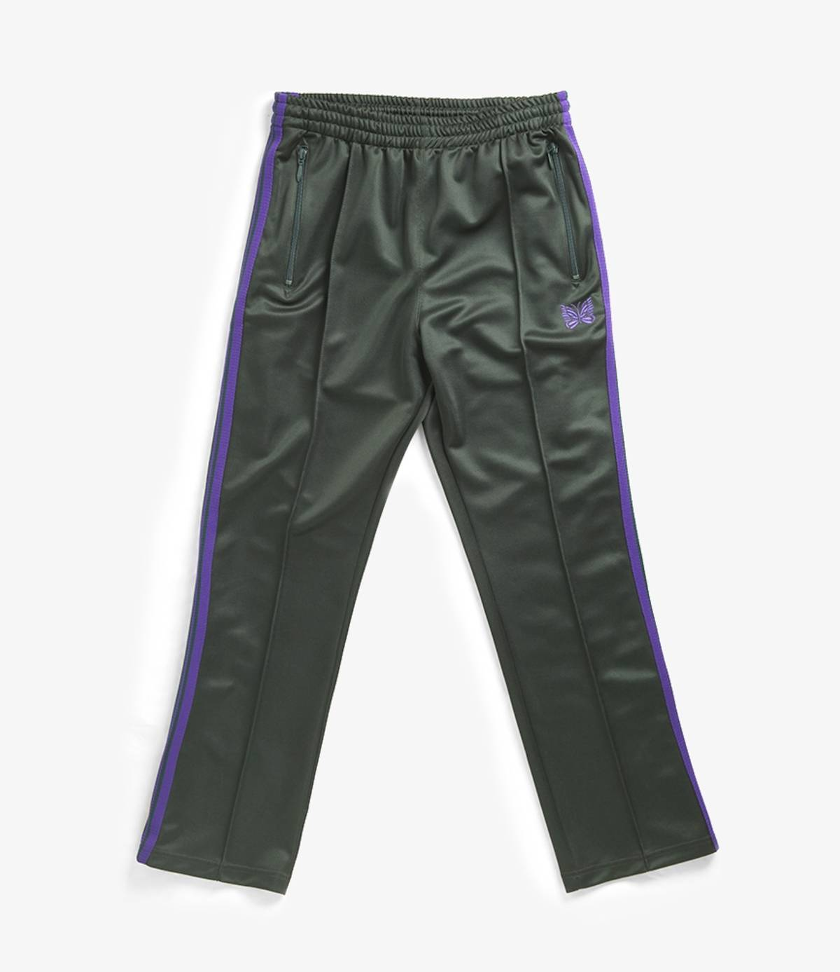 Needles Narrow Track pant poly smooth green purple 18AW Nepenthes made in Japan