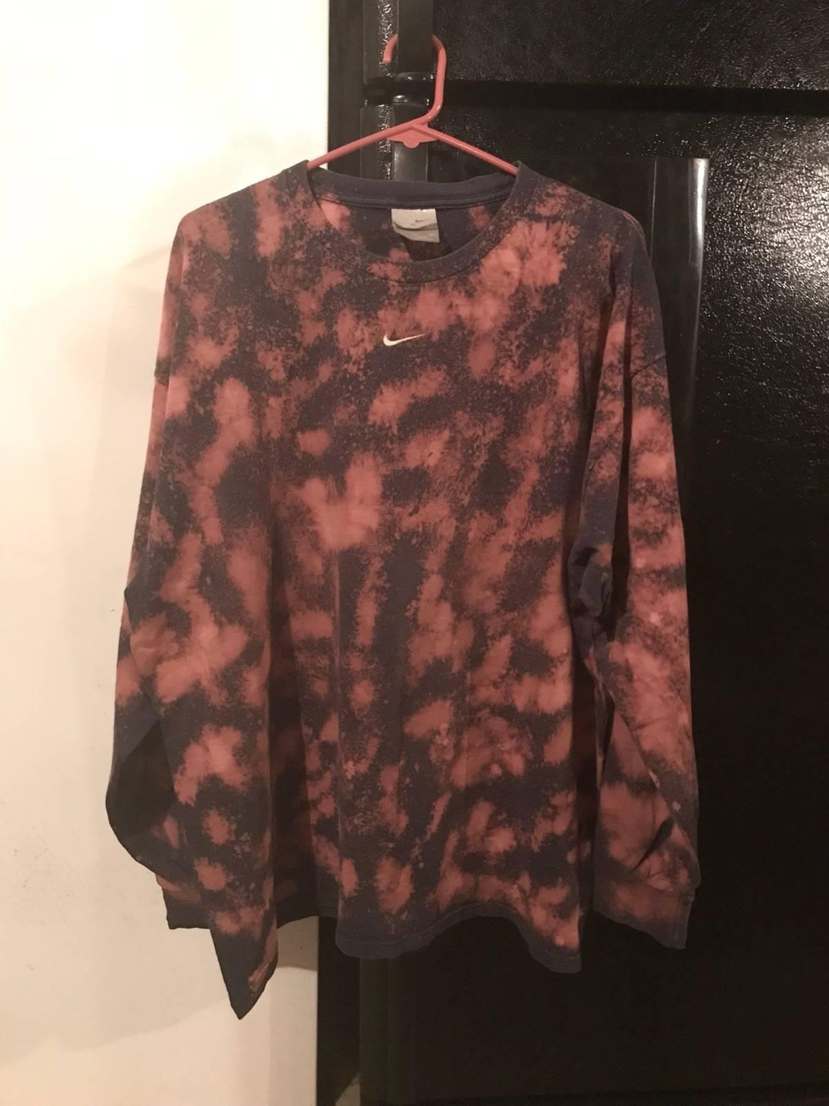 Nike Custom Bleach Dyed Nike Long Sleeve Shirt Size Xl Long Sleeve