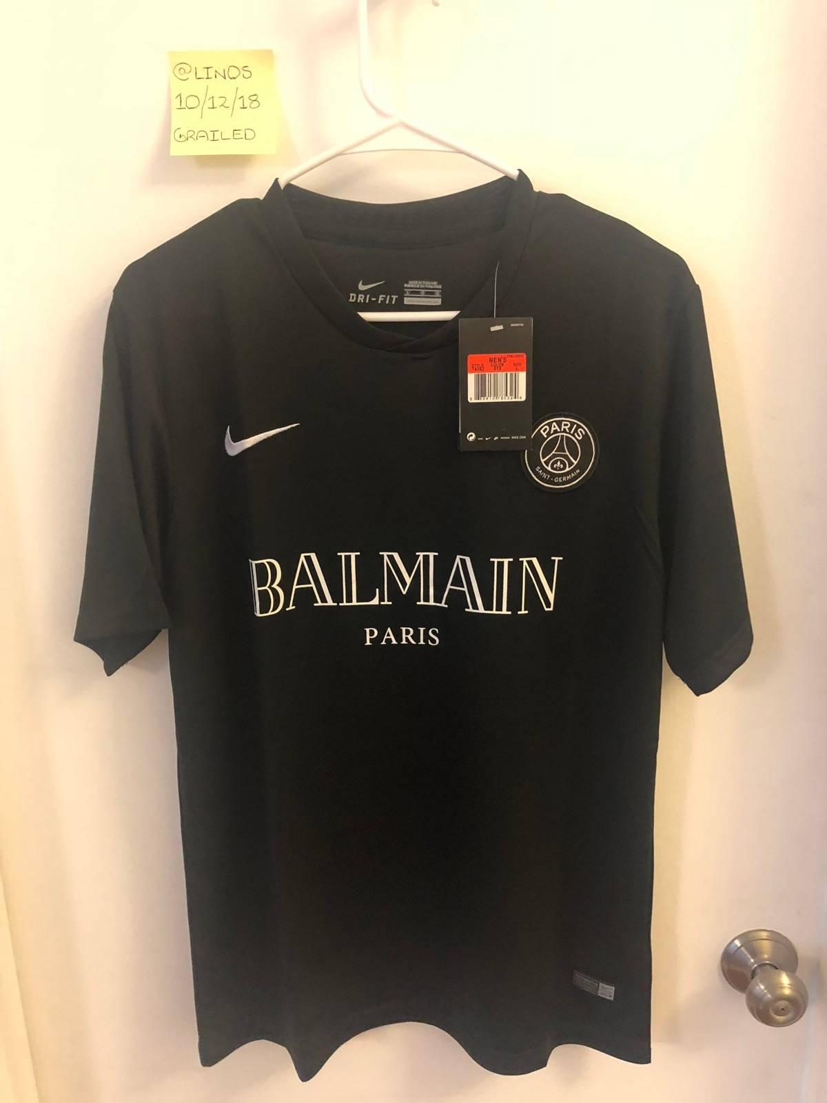 uk availability 1f8ae 85f03 Balmain × Nike Nike X Balmain X Psg Custom Mens Soccer Jersey Size L $202