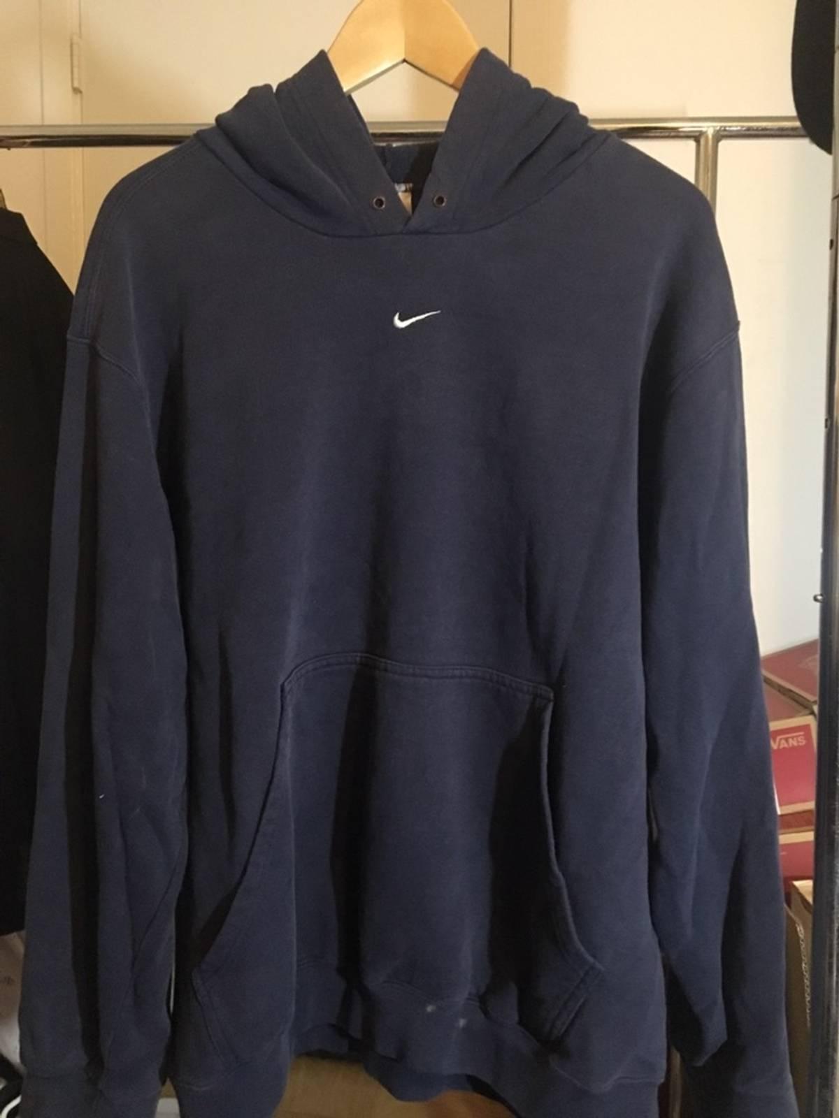 vintage nike middle swoosh hoodie