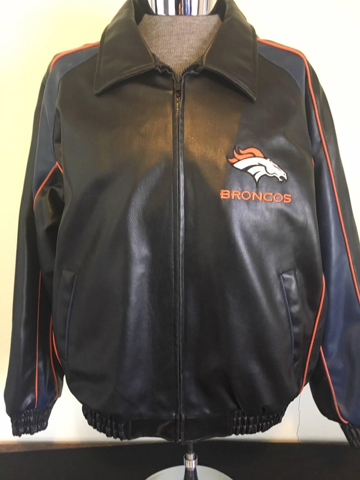 separation shoes 56eac 2276a Nfl Denver Broncos Faux Leather Jacket Size Xl $49