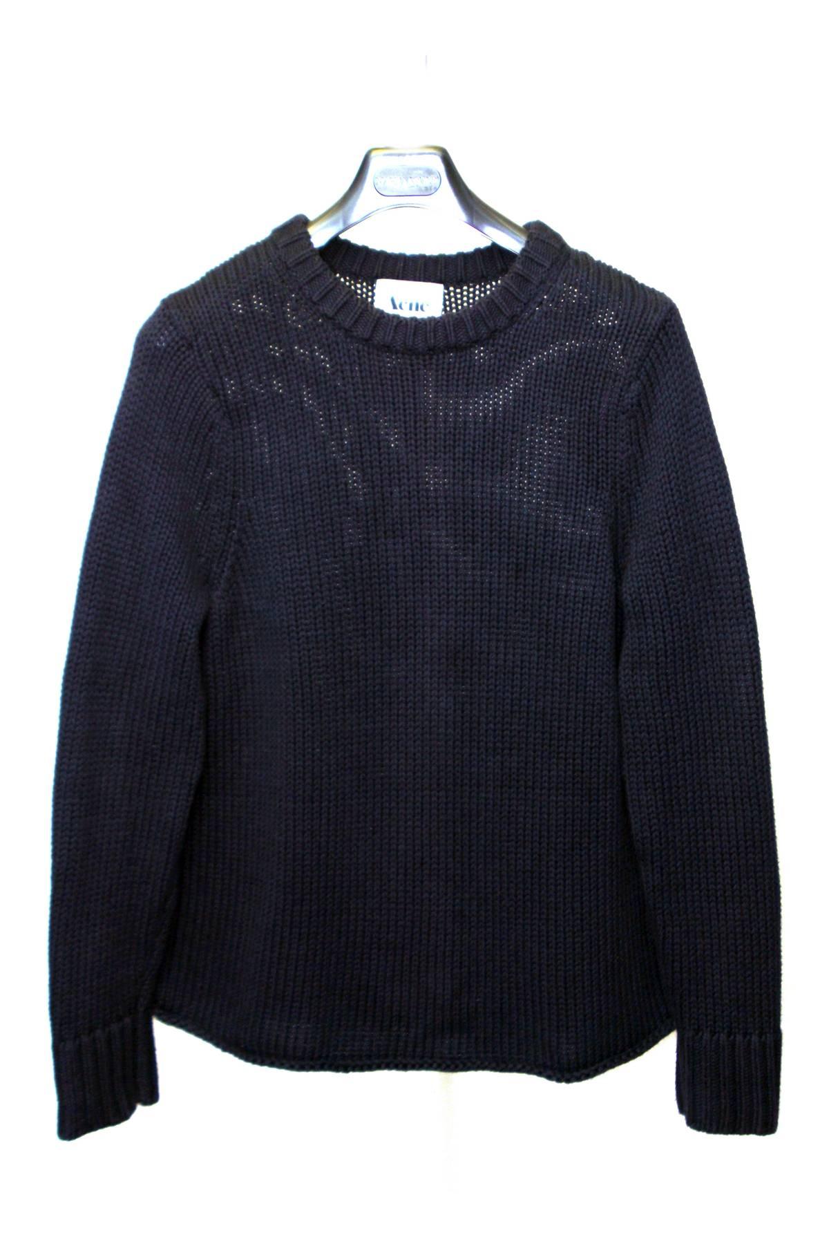 f513f8af06 Acne Studios. Helsinki Chunky Knit Navy Blue Sweater SS12. Size  US S ...