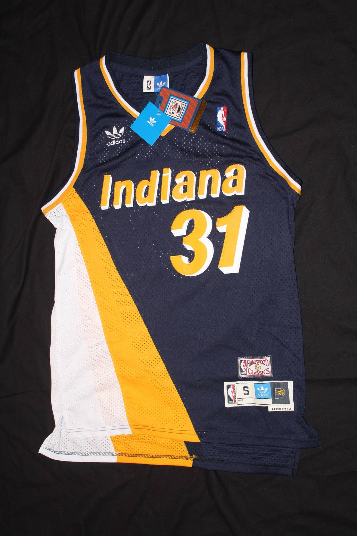 sports shoes 833a1 1d27f Adidas Adidas Throwback Reggie Miller Jersey Size S $63