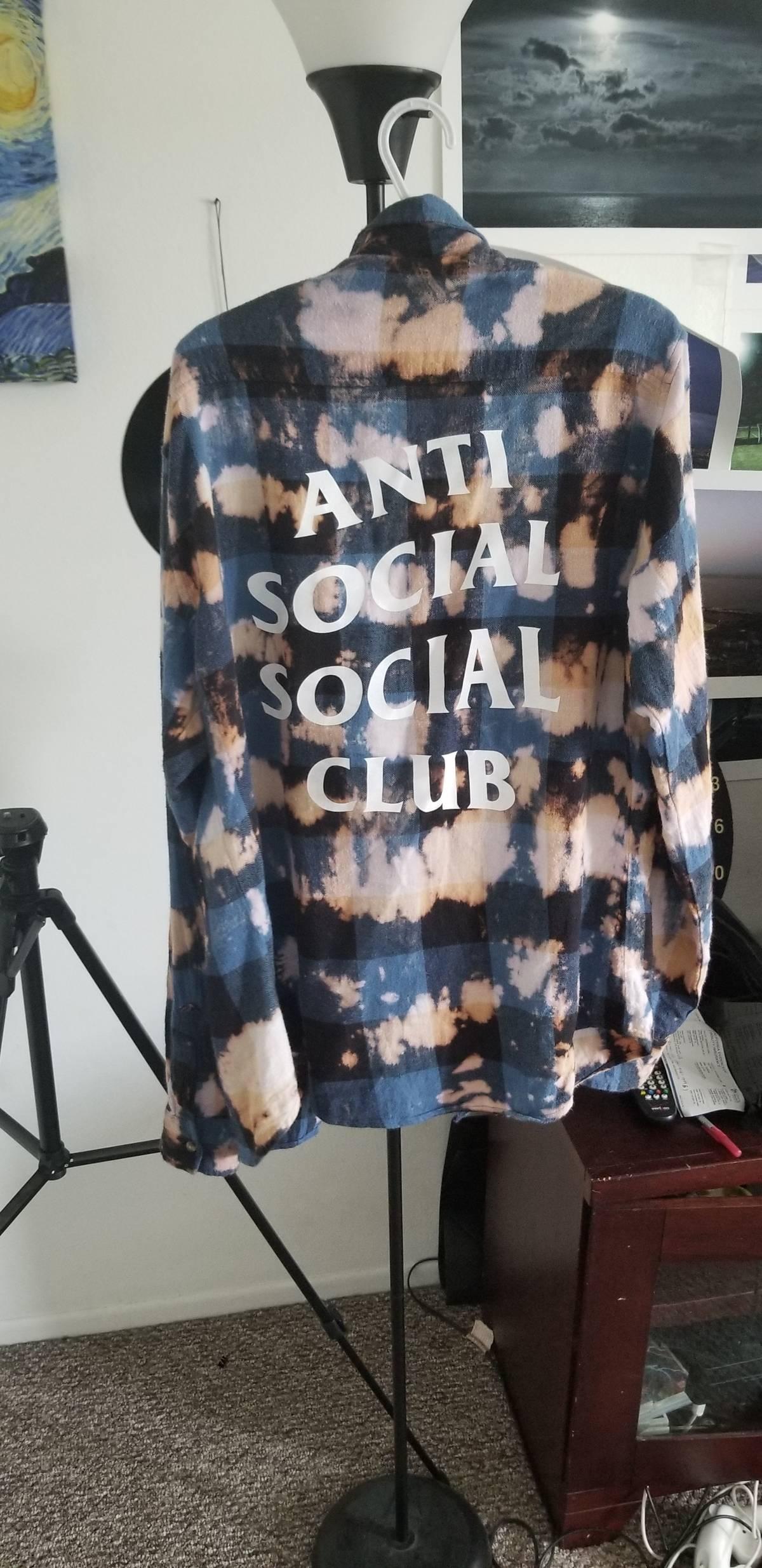 9d604df9ca25 Antisocial Social Club ×. ANTISOCIAL SOCIAL CLUB PSY BUFFALO BLUE FLANNEL