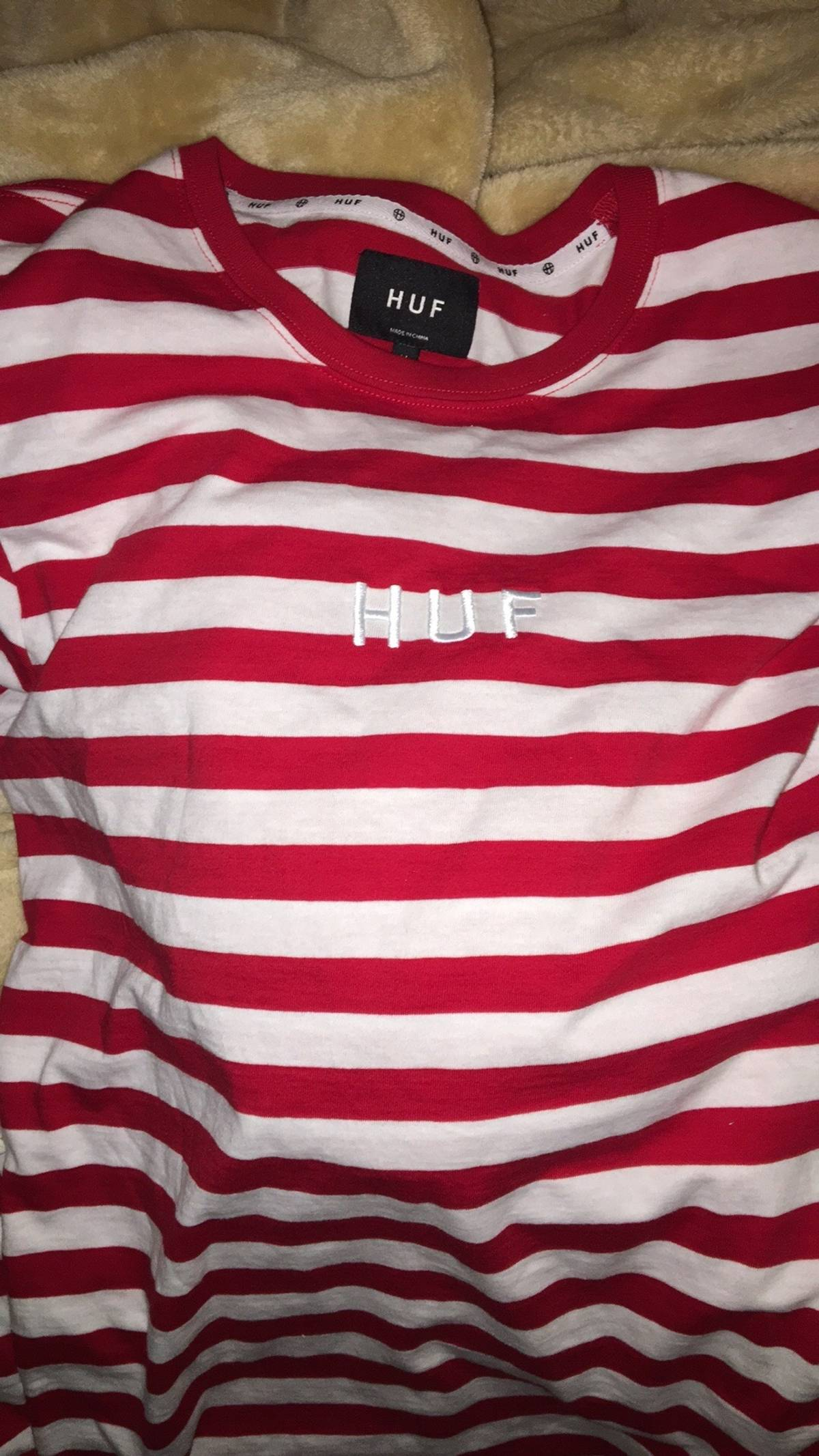 9e86b2dbcc Huf Red Striped Longsleeve | Grailed