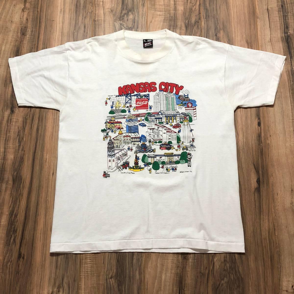 Vintage Vintage 1995 Coca Cola Kansas City Large Print Shirt Size Xl