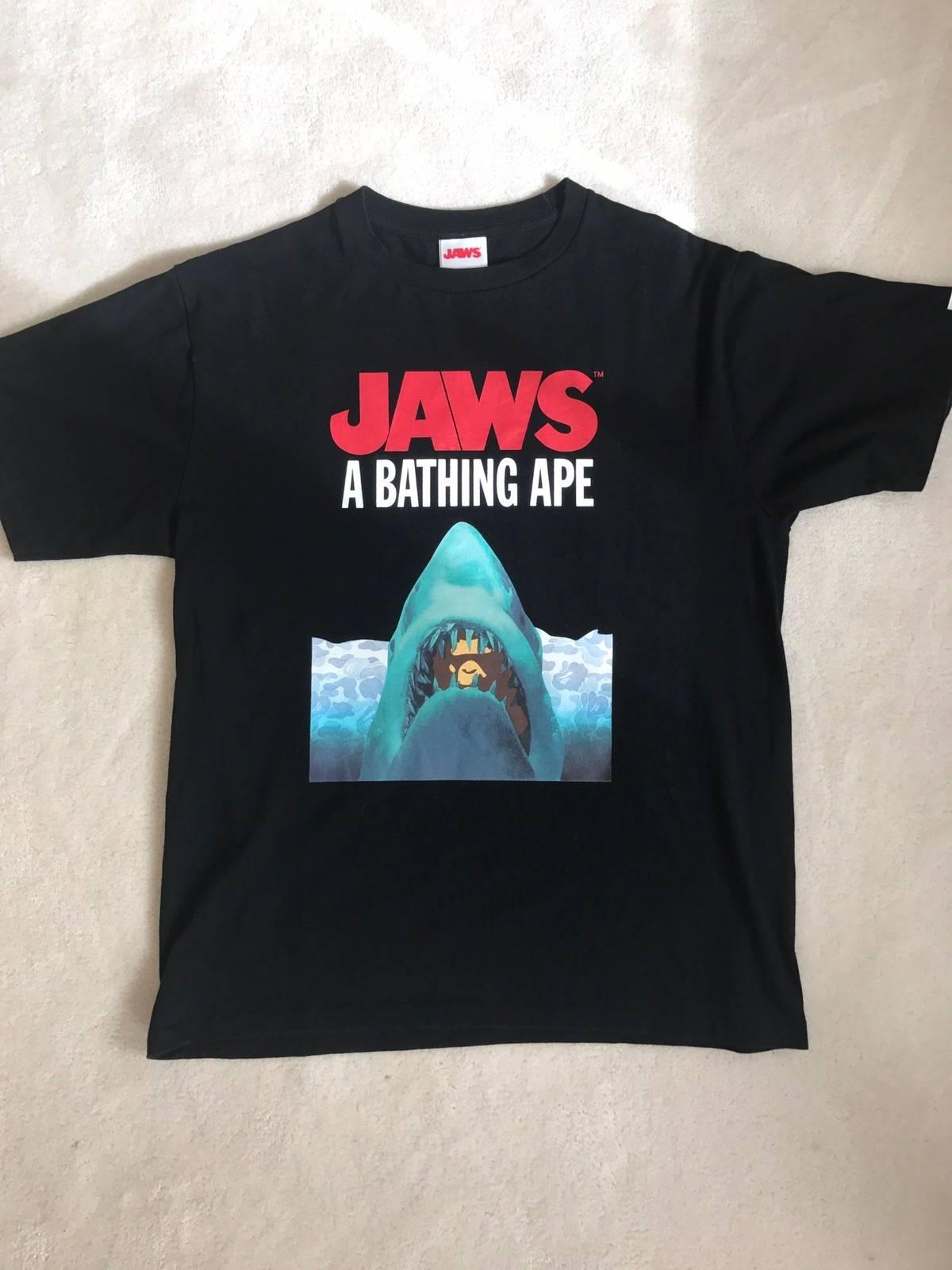 62ae781a4 Bape Bape X Jaws Tee Ss16 Black | Grailed