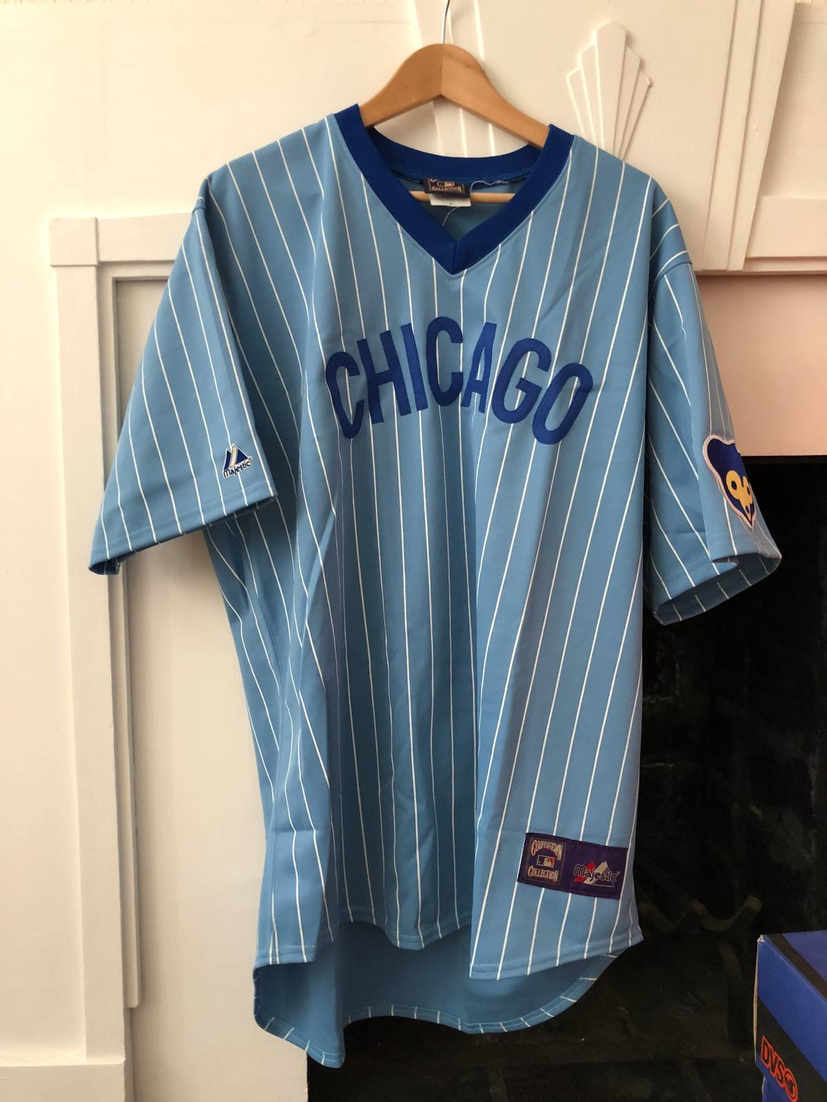 timeless design 4c50d 7f06d Mlb × Majestic × Vintage Chicago Cubs Cooperstown Throwback Jersey Size Xl  $60