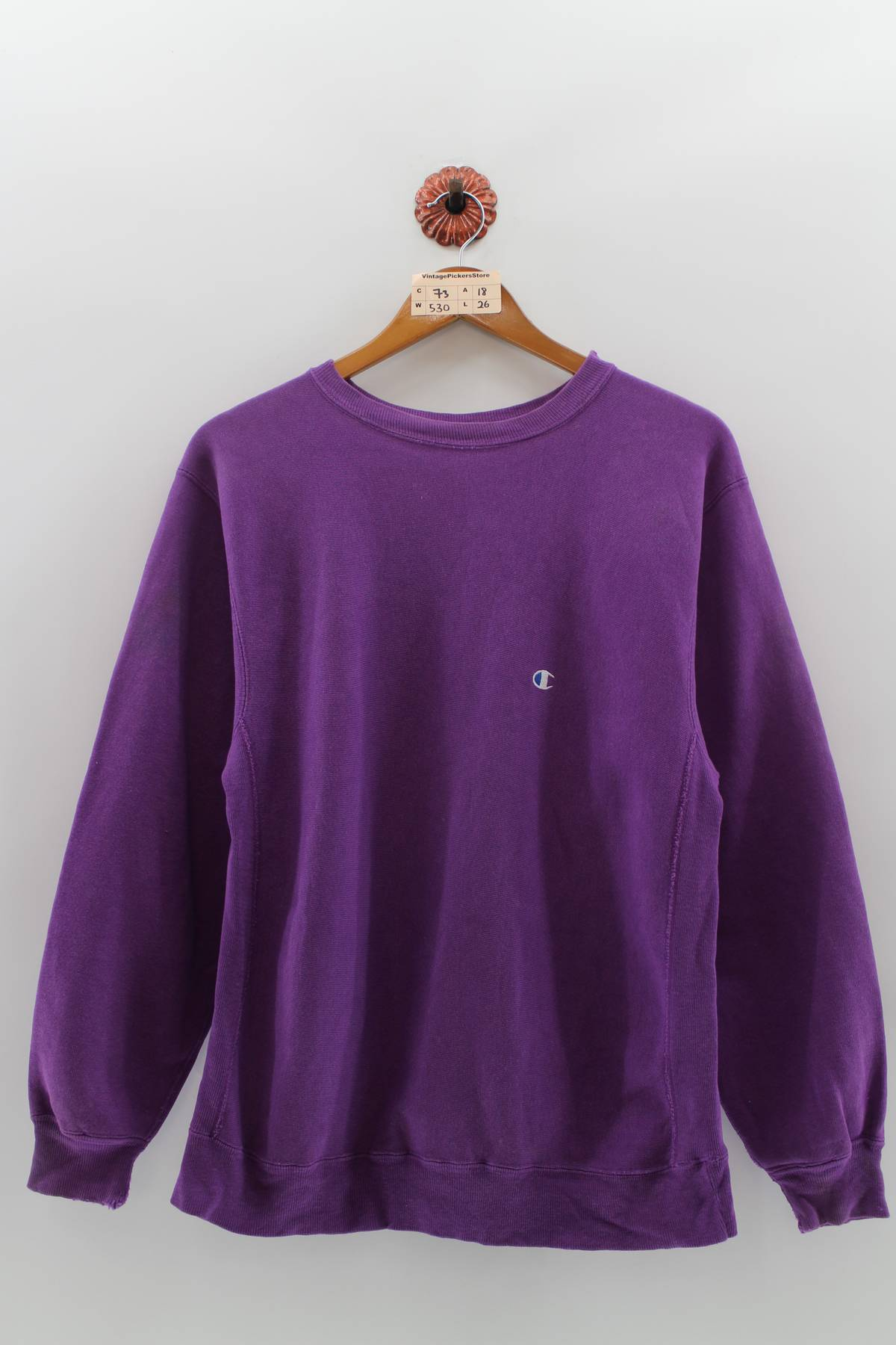 861f0c1e4 Champion ×. Vintage CHAMPION Pullover Jumper XLarge Women Champion  Authentic Small Logo Sportswear Champion Reverse Weave Purple ...