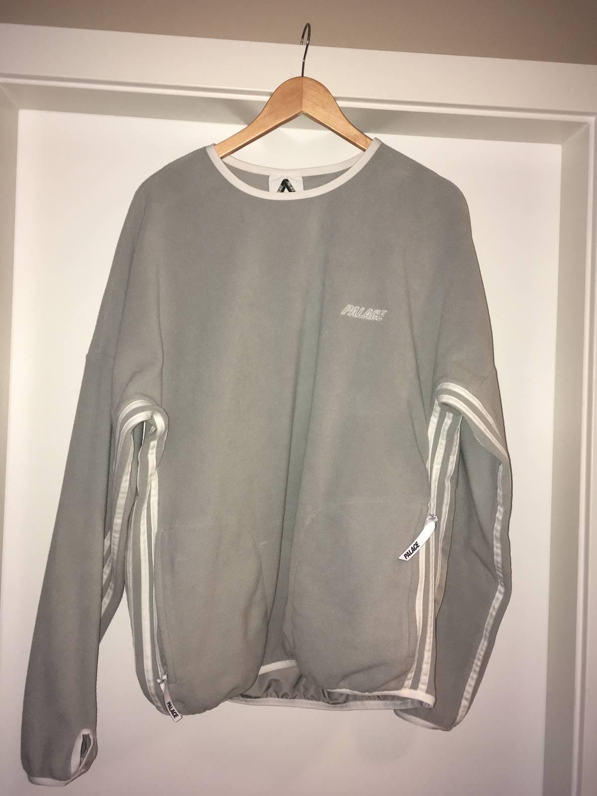 Adidas × Palace Palace X Adidas Fleece Crew Grey Size L $117