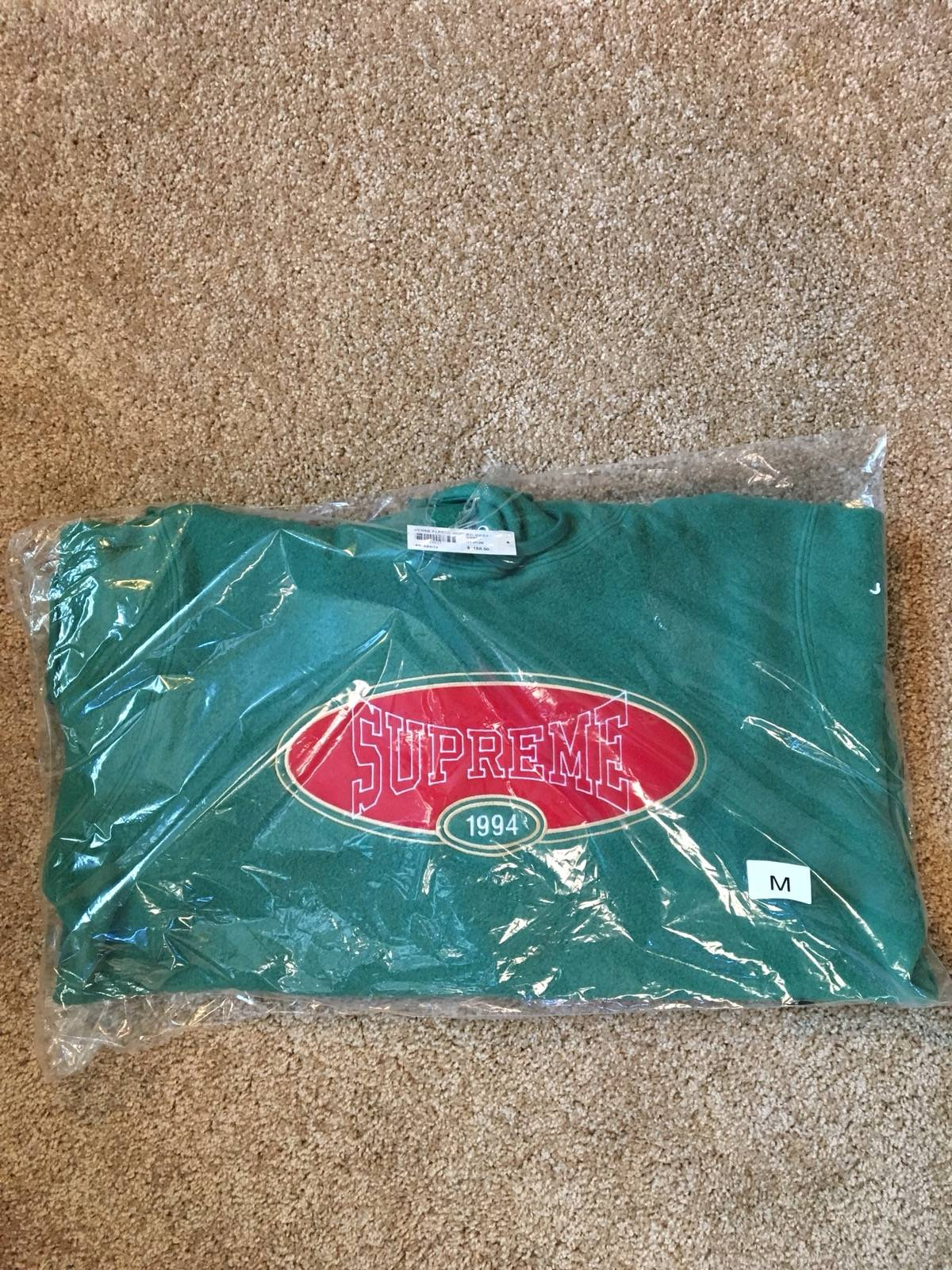 4050e6f8eeb3 Supreme Supreme Reverse Fleece Hooded Sweatshirt Light Pine Medium ...