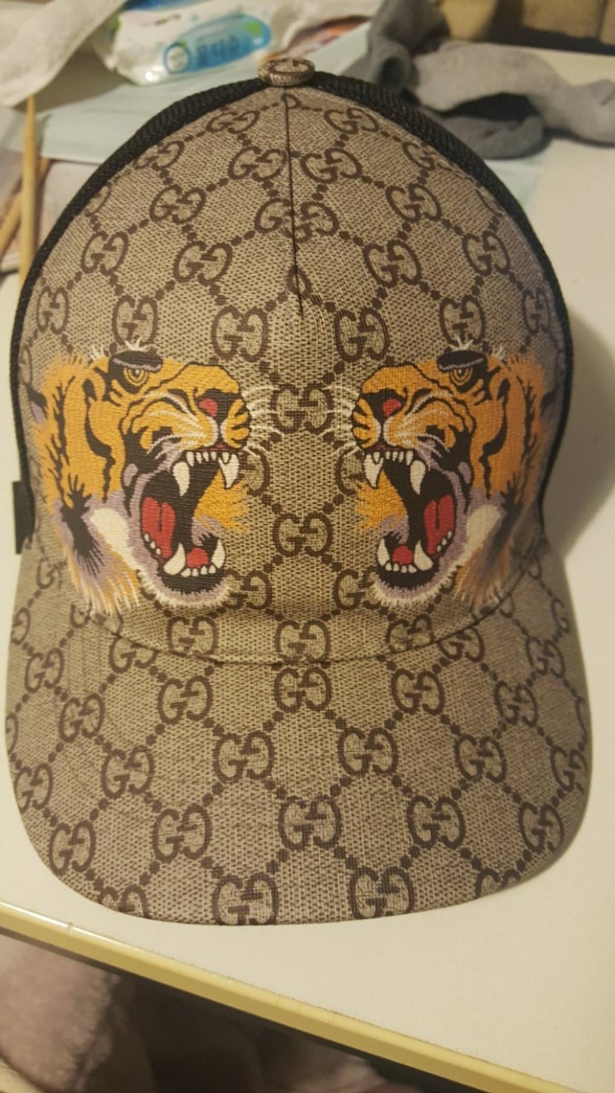 Gucci Tiger Print GG Supreme Baseball Hat Size one size - Hats for Sale -  Grailed 8033fd3bf38