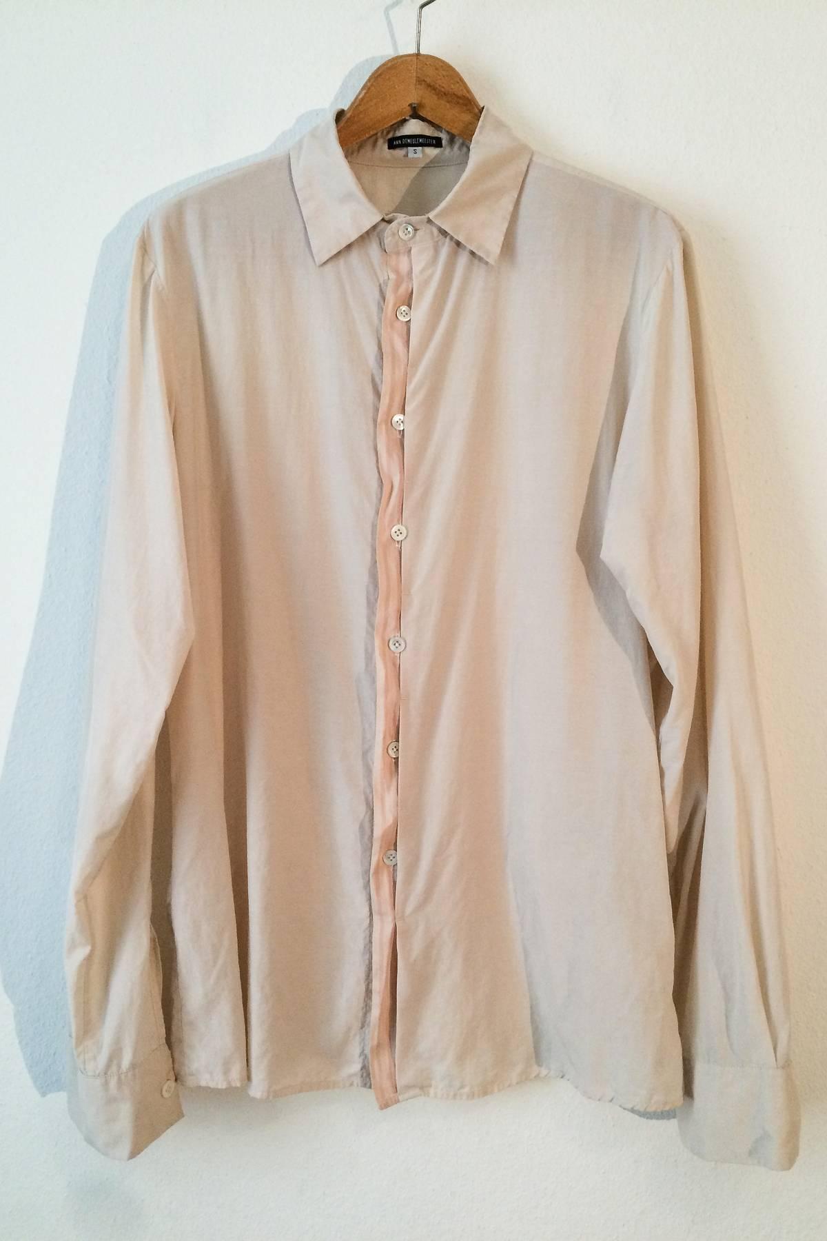 Ann Demeulemeester Silk Cotton Dress Shirt Light Salmon Coloured