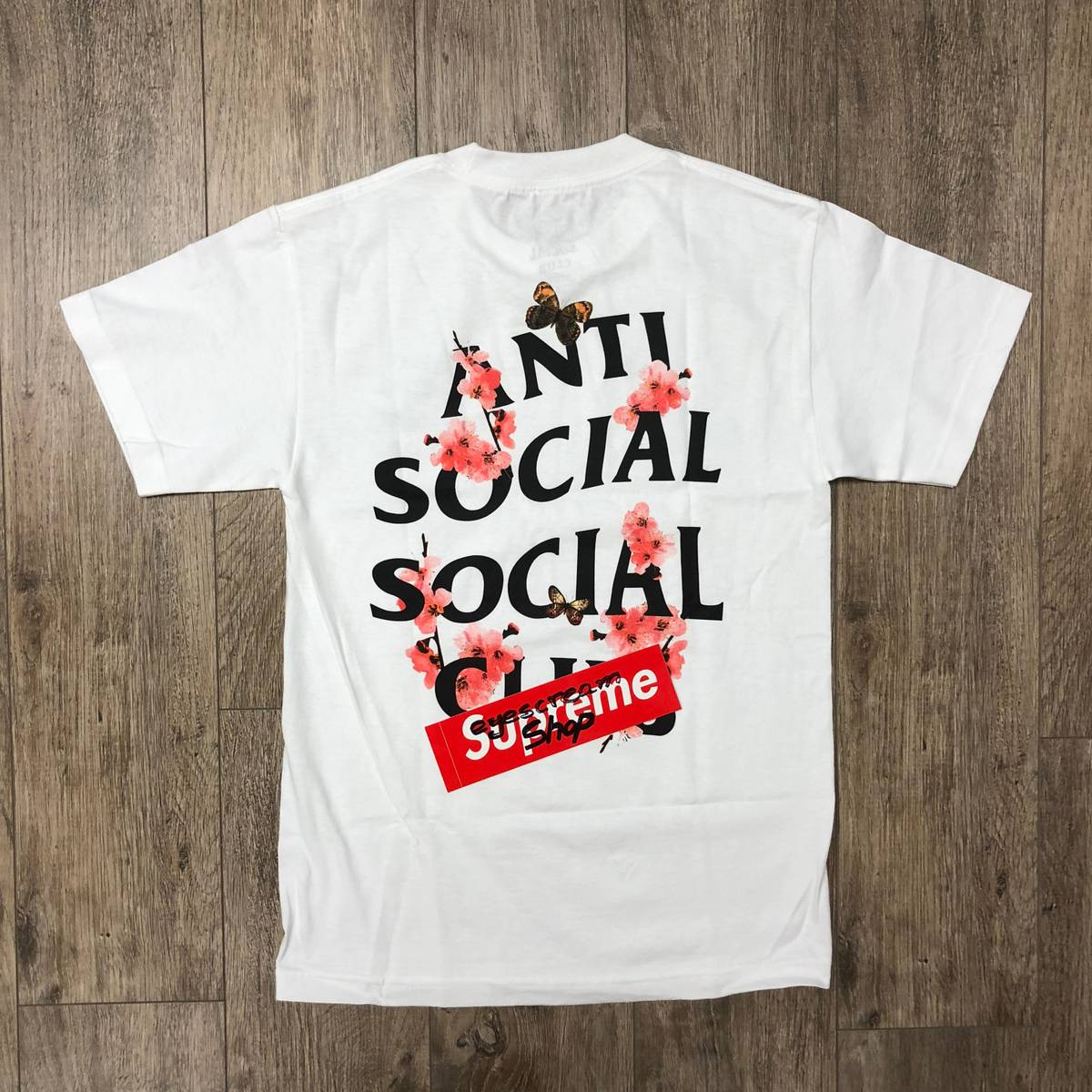 DS Anti Social Social Club ASSC Logo Silverlake Blue Tee Shirt Supreme BAPE Kith