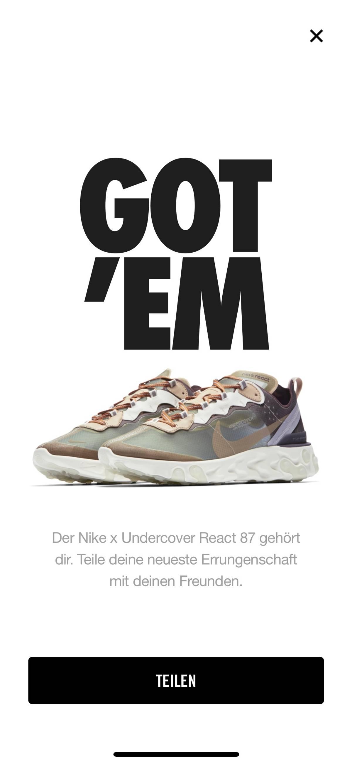 online store 09c92 98f33 Jun Takahashi × Nike Nike React Element 98 Size 9.5 $450