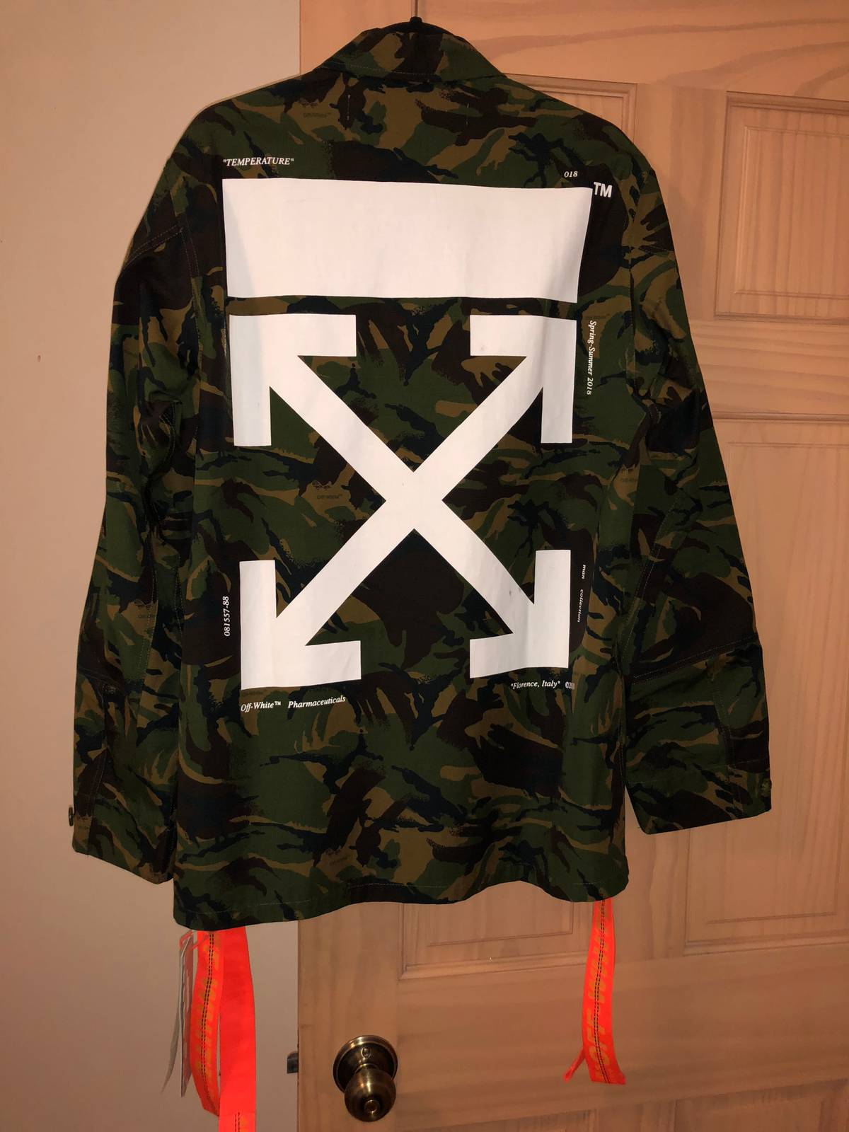 6bfbaf5b93f8c Off-white Off-white Camo Field Jacket With Patches | Grailed