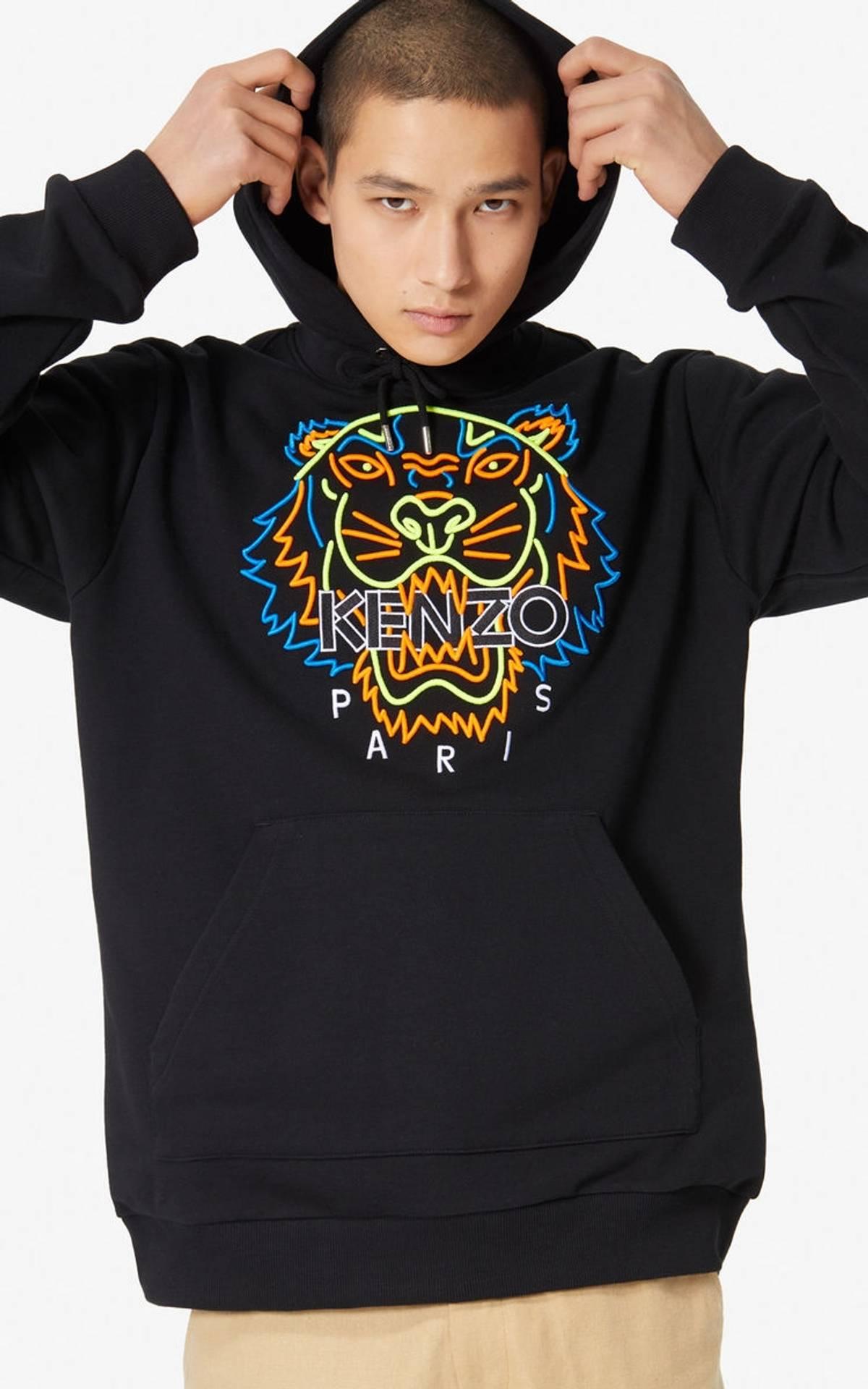 da80459d Kenzo Kenzo Neon Tiger Hoodie Sweatshirt Ss 19   Grailed