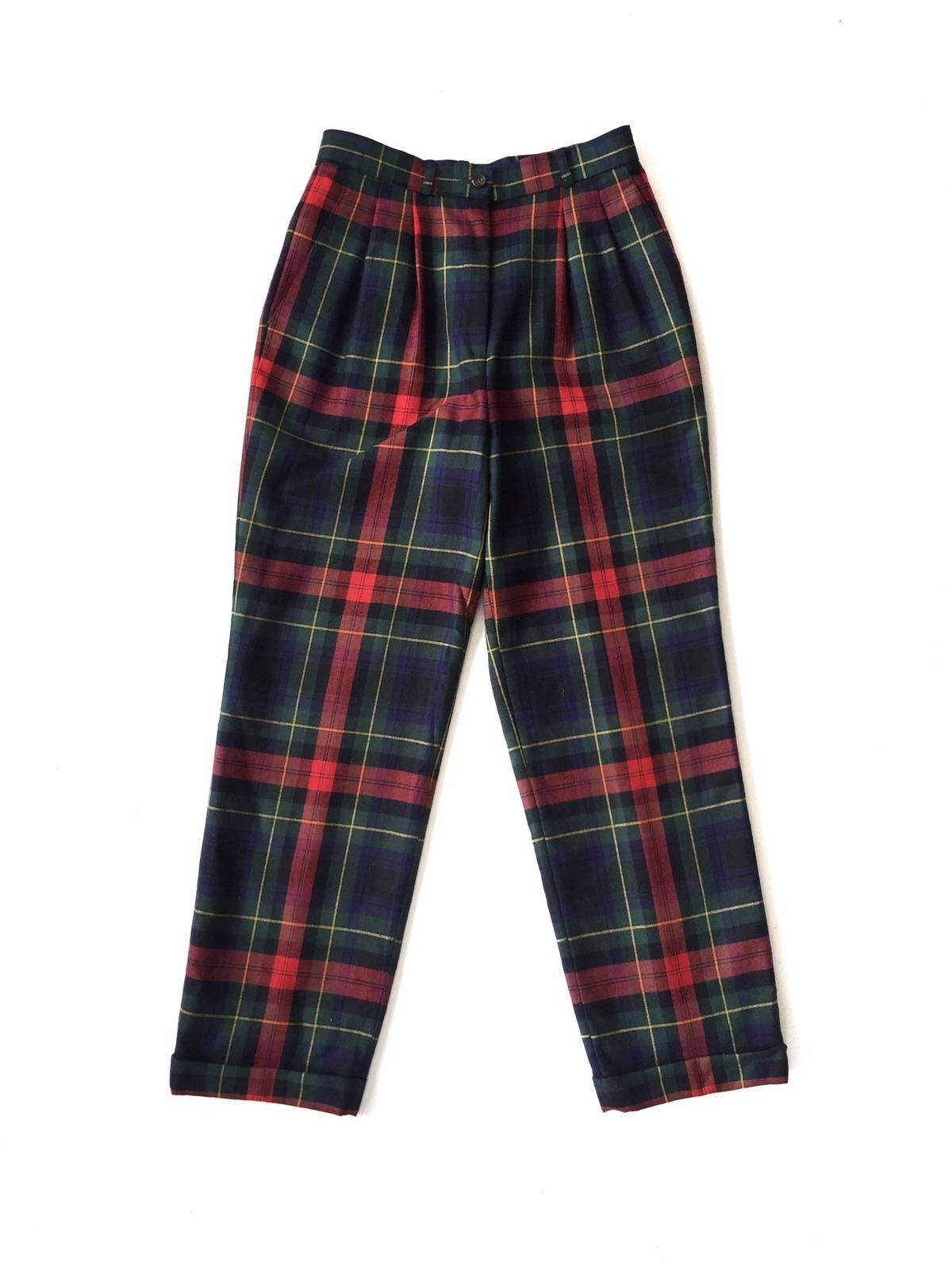 Austin Reed Austin Reed London Multicolor Checkered Plaid Gabardine Wool Trousers Pants Grailed