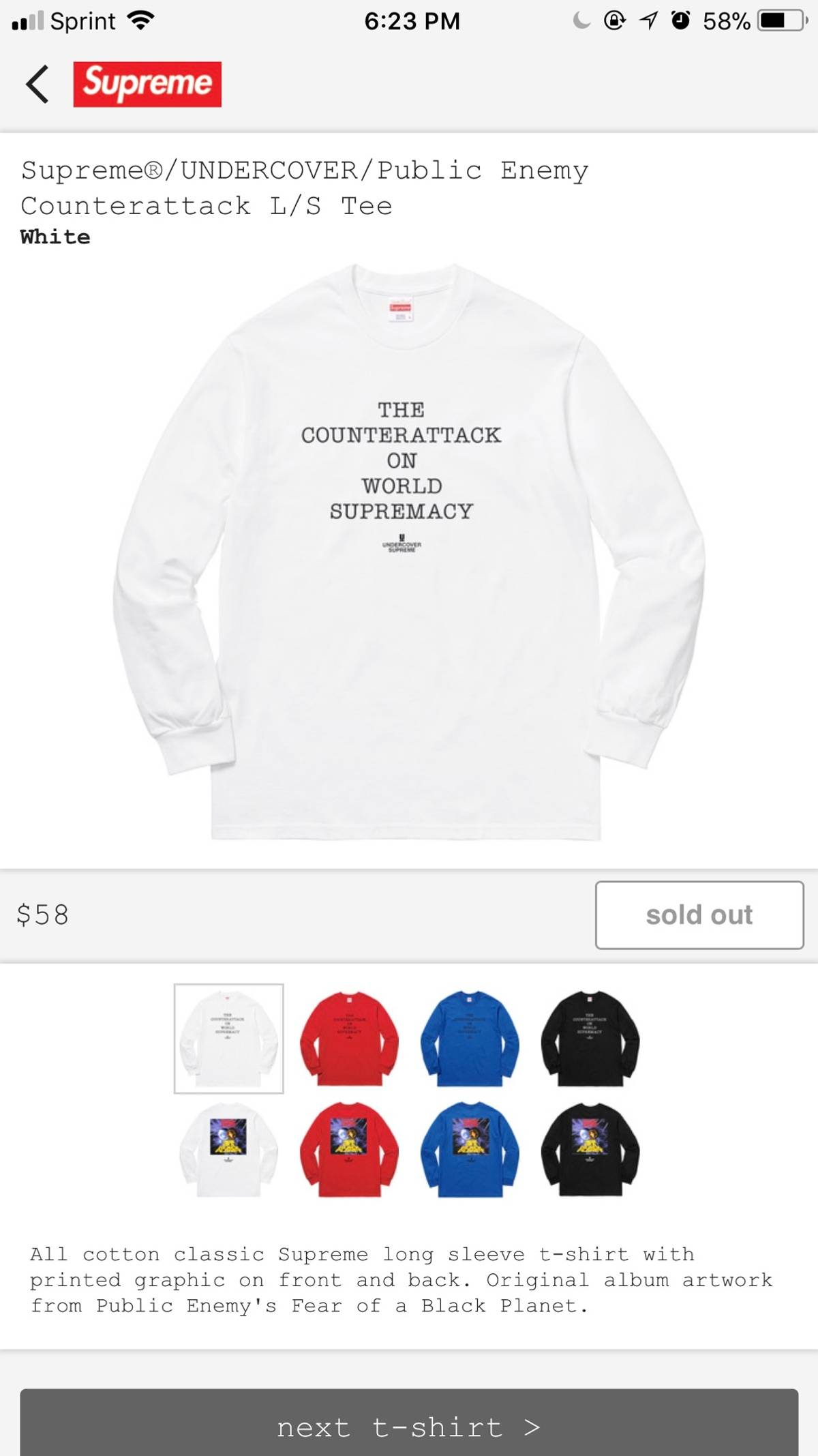 83952dcd80d Supreme Supreme Public Enemy Long Sleeve Tee Size l - Long Sleeve T ...