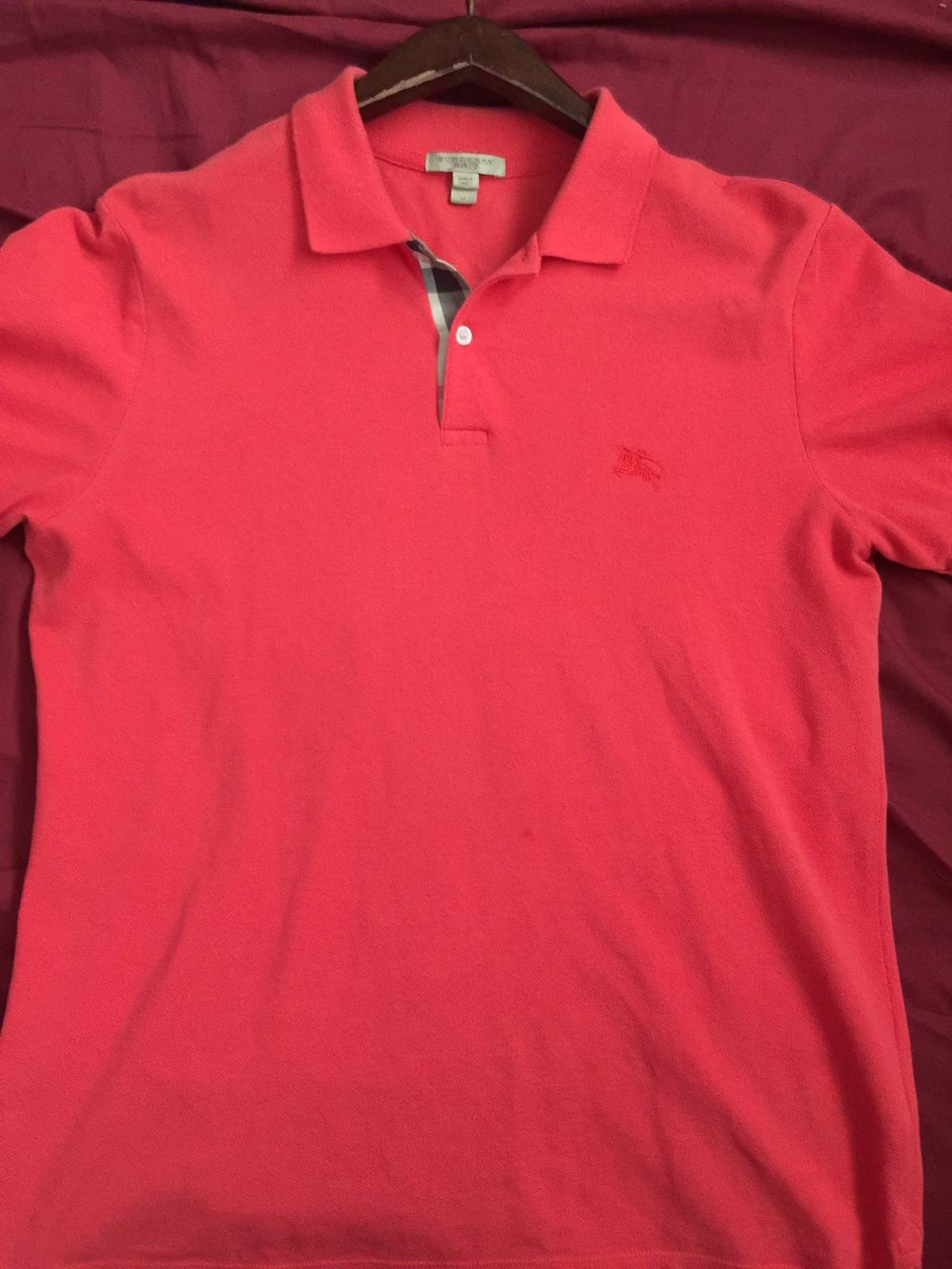 87aa89f18d6 Burberry Mens Orange Burberry Brit Polo Size m - Polos for Sale - Grailed