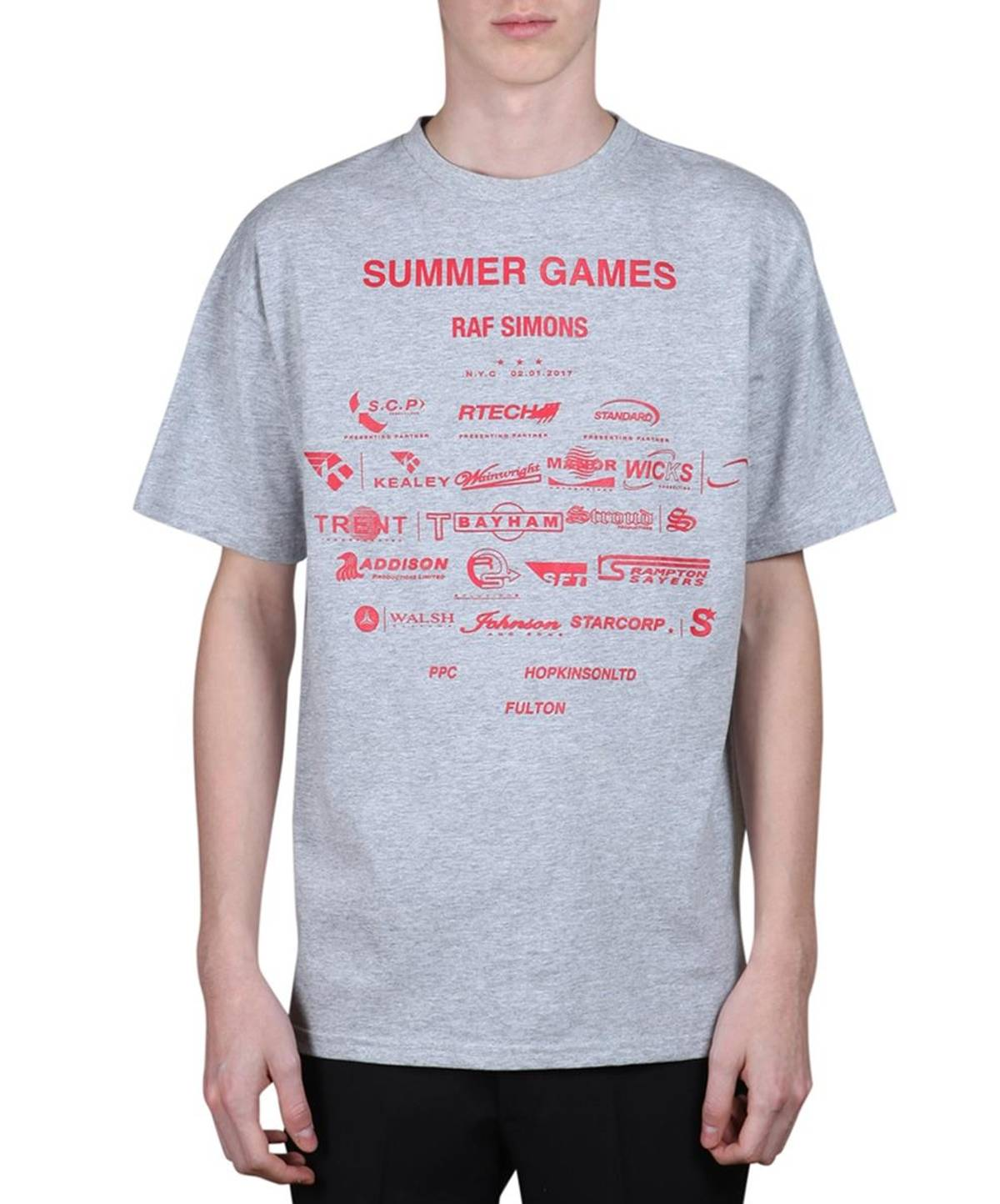 76daf89b70e Raf Simons Summer Games cotton t-shirt (easy fit) Size l - Short Sleeve T- Shirts for Sale - Grailed