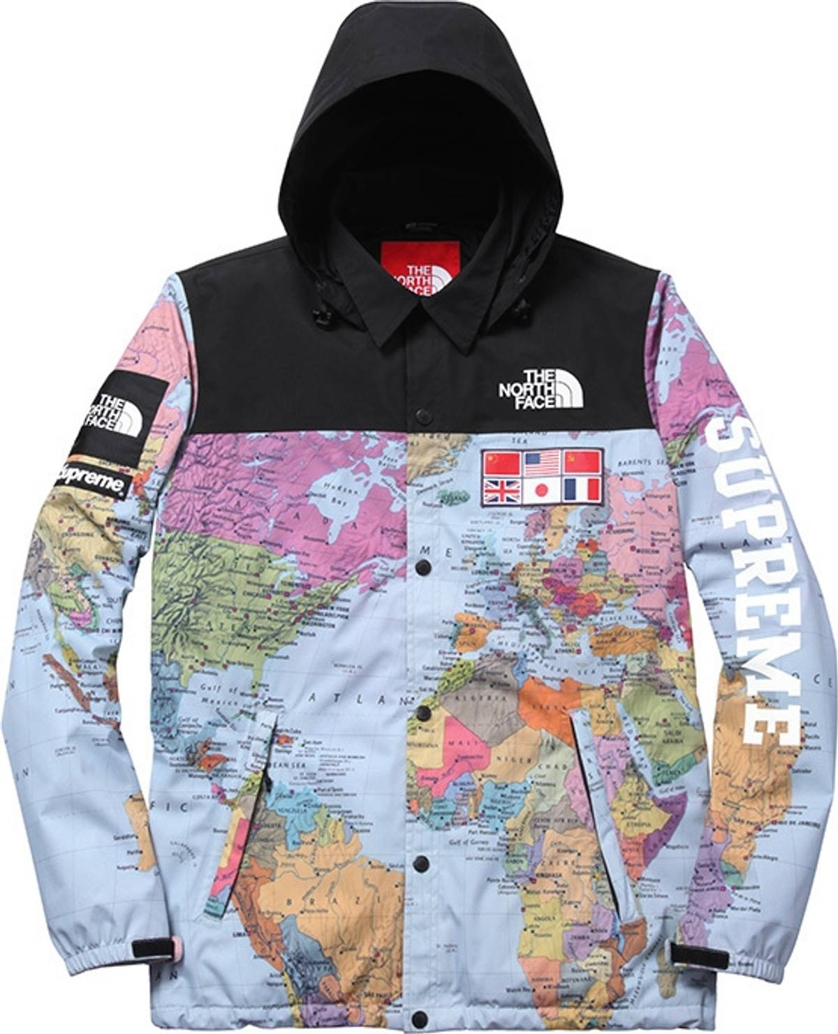 e01d9a2c3c Supreme Supreme X The North Face Worldwide Map Jacket Size s - Raincoats  for Sale - Grailed