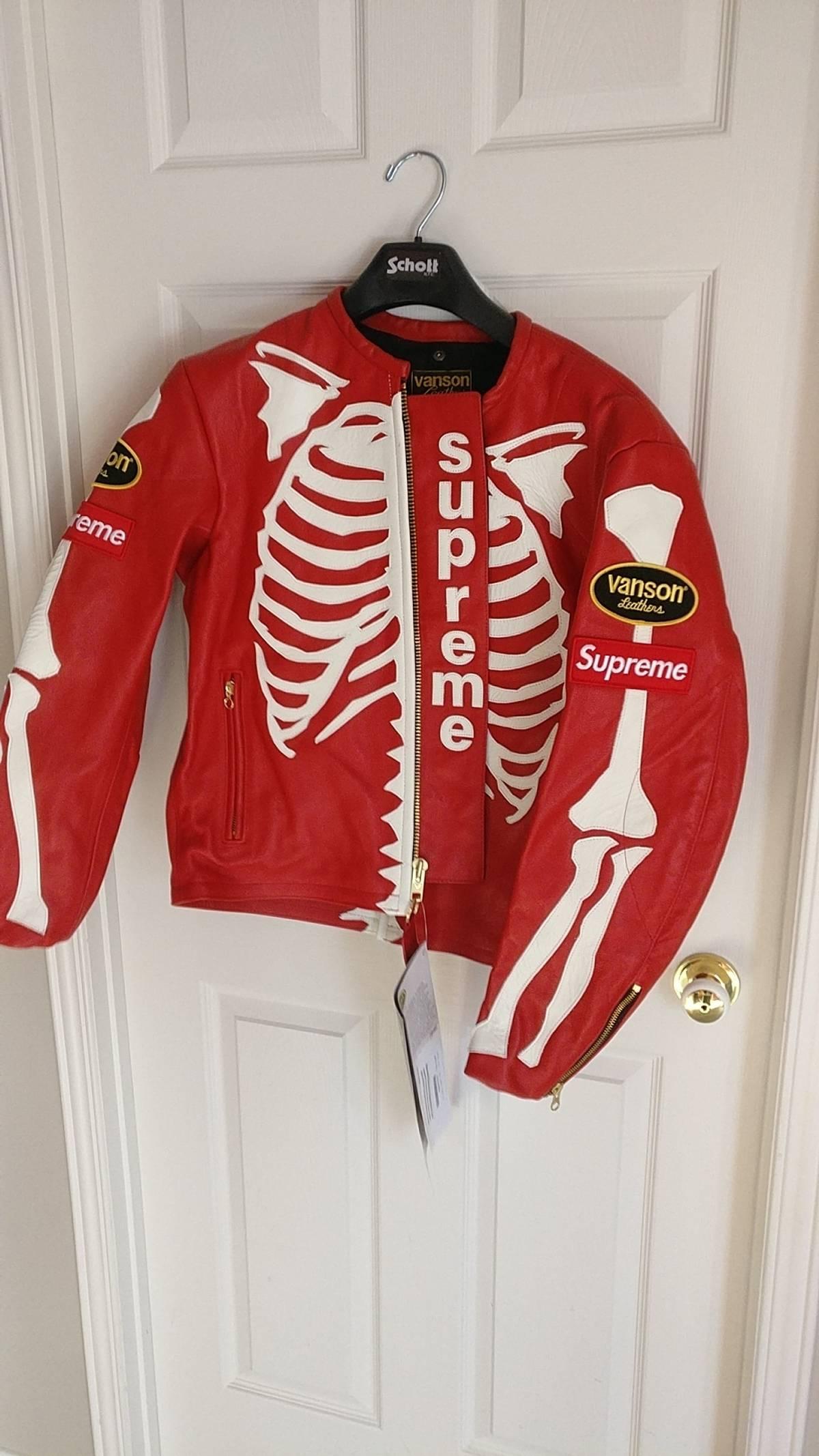 6d018c948 Supreme Supreme®/Vanson® Leather Bones Jacket Size M $1620