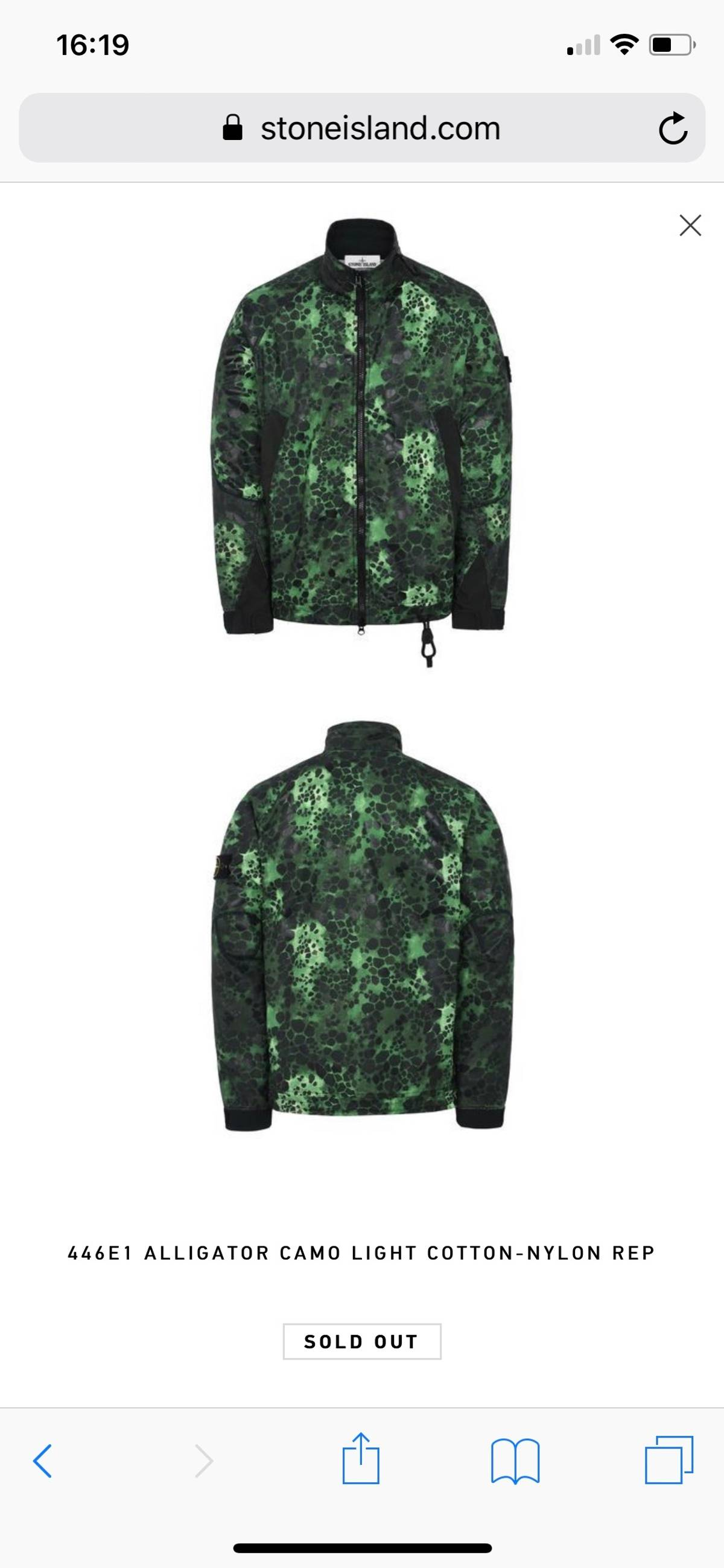 422c6ce173393 Stone Island Shadow Project ×. 446E1 ALLIGATOR CAMO LIGHT COTTON-NYLON REP