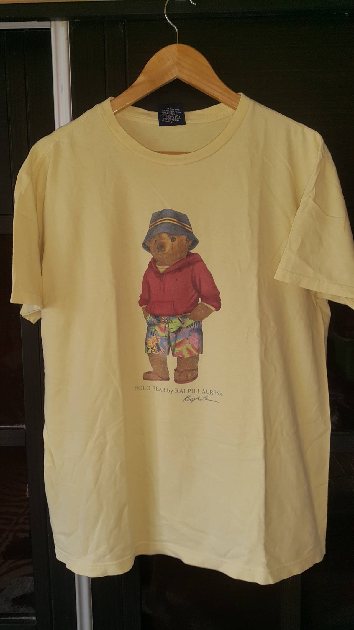 20838871 Polo Ralph Lauren × Vintage ×. Vintage Polo Bear Yellow By Ralph Lauren  Size Medium