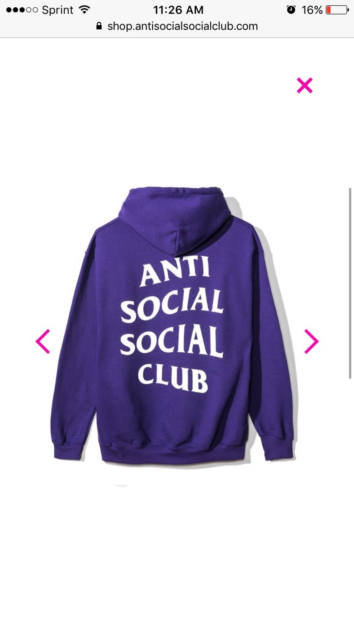 d0a132dcd833 Antisocial Social Club Anti Social Social Club Purple Rain Hoody Size m -  Sweatshirts   Hoodies for Sale - Grailed