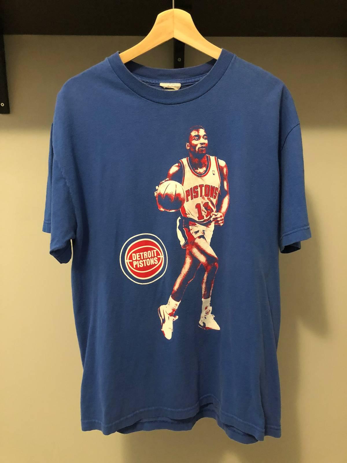 premium selection 6ae83 10bec Vintage Vintage Isaiah Thomas Detroit Pistons Zeke Bad Boys T Shirt Size L  $27
