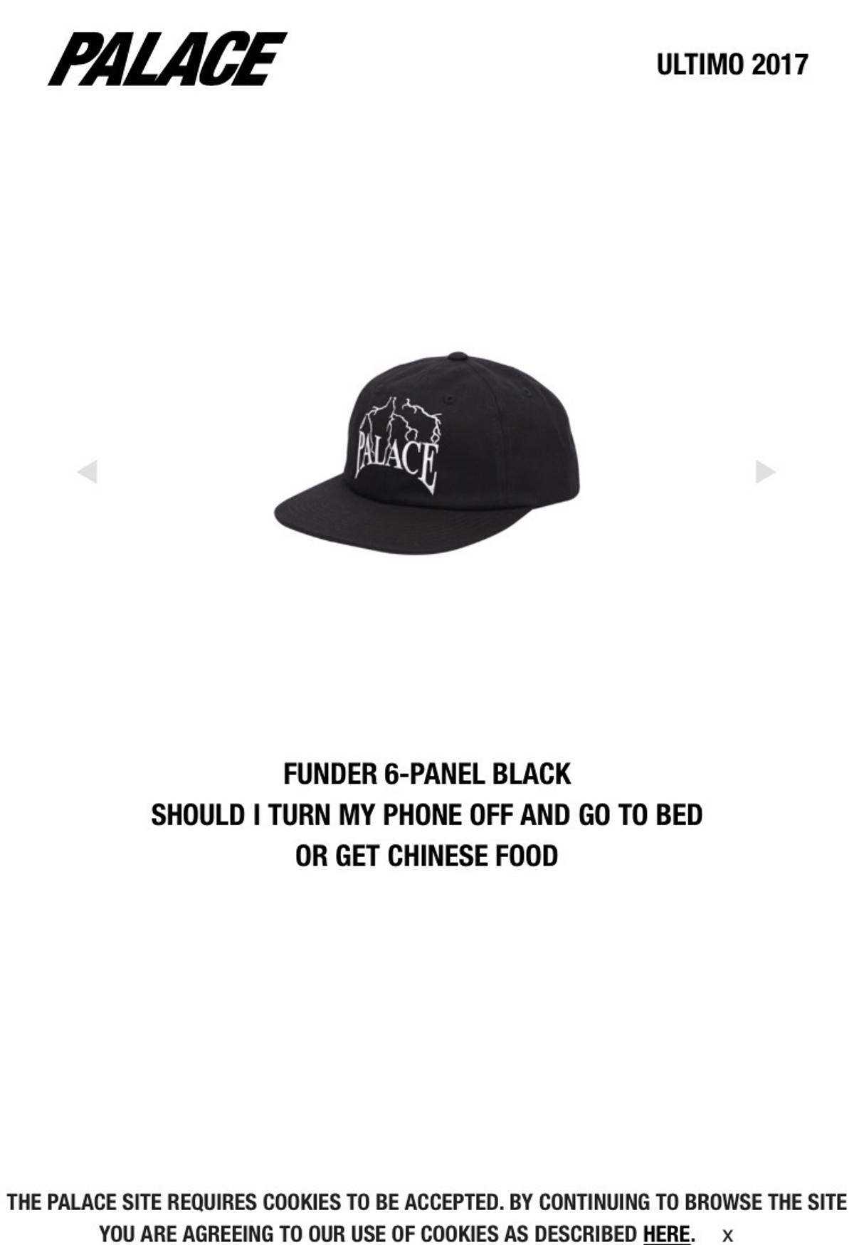 0fa88ed702e Palace Funder 6-Panel Black Size one size - Hats for Sale - Grailed