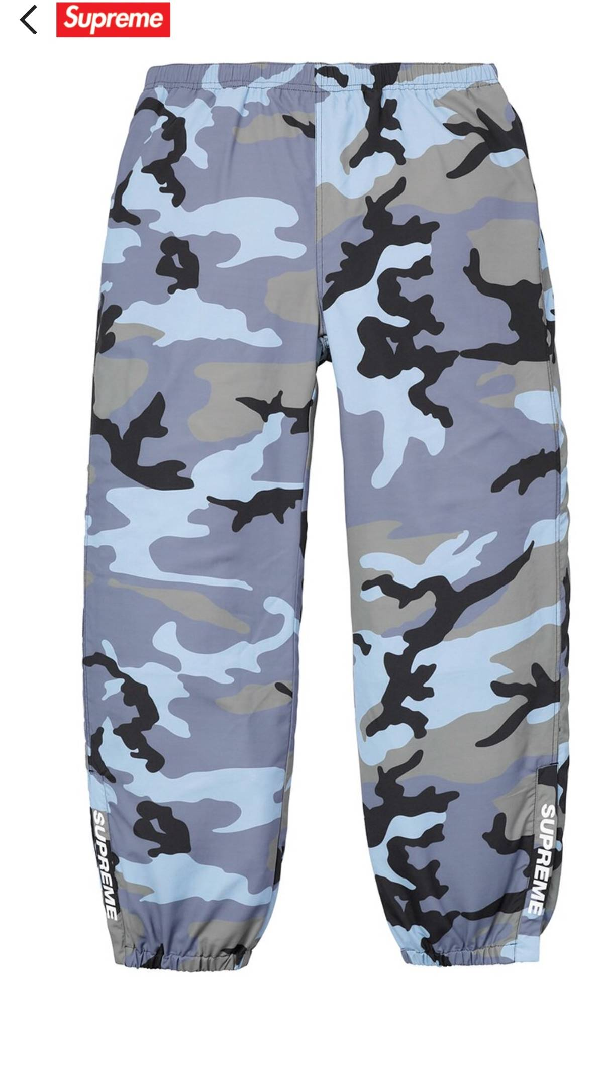 a32945b425d41 Supreme Supreme Blue Camo Warm Up Pant | Grailed