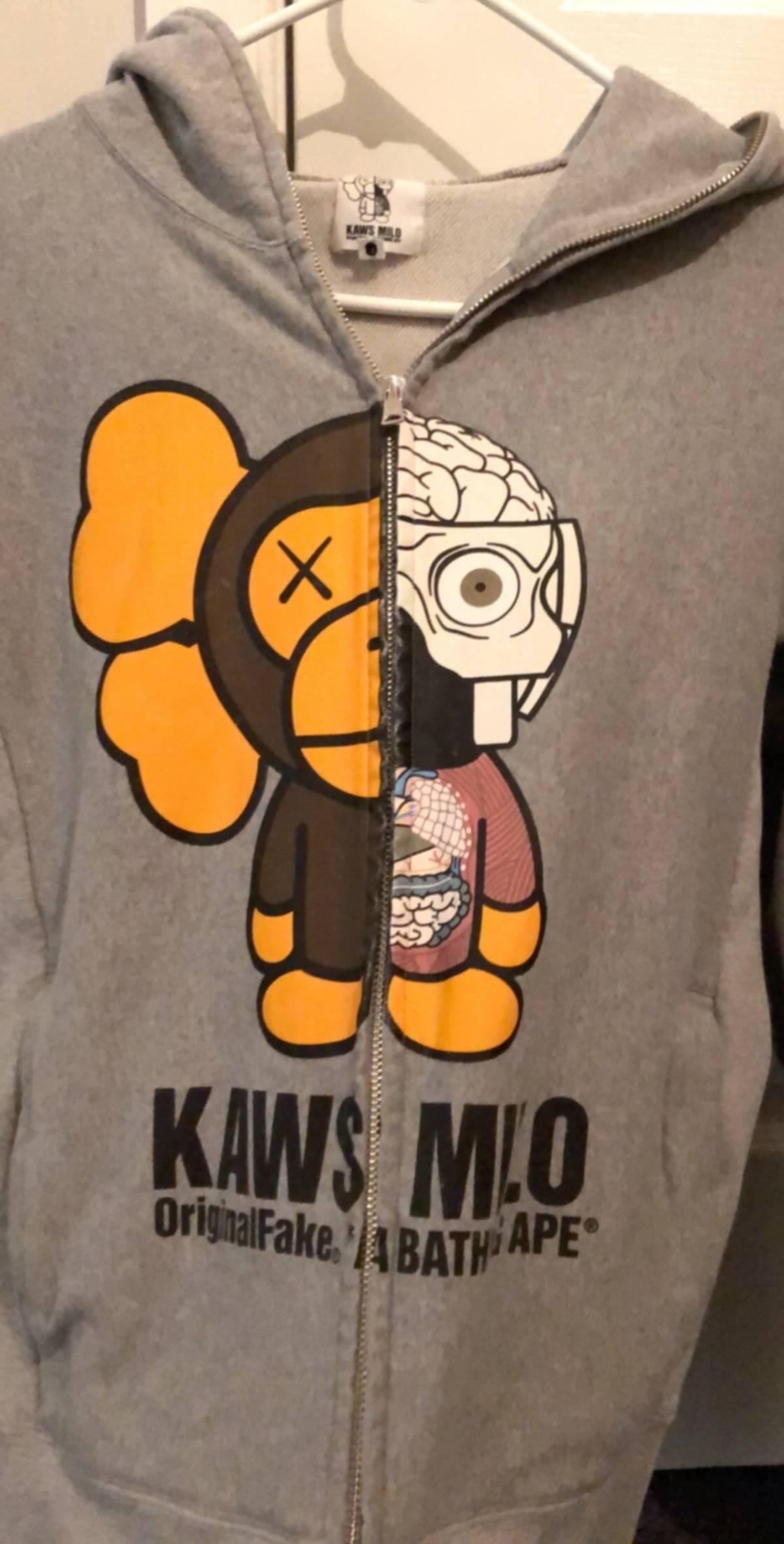 e0006d8c Bape A Bathing Ape Baby Milo X Original Fake Kaws Hoodie 2011 Collab ...