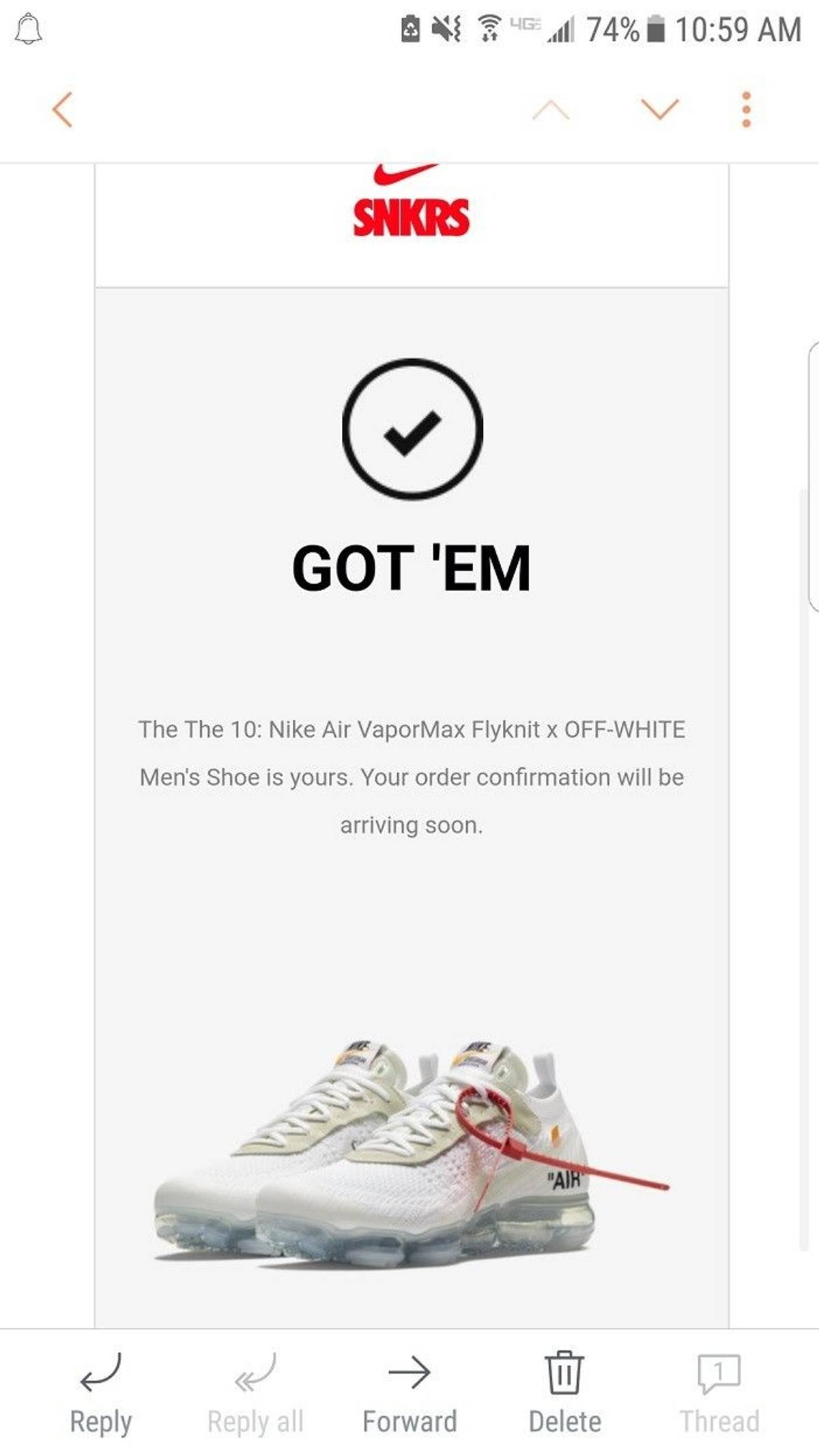 e509566fcde Nike The 10 Nike Air VaporMax Flyknit x OFF-WHITE Men s US Sz 10.5 Size 10.5  - Low-Top Sneakers for Sale - Grailed