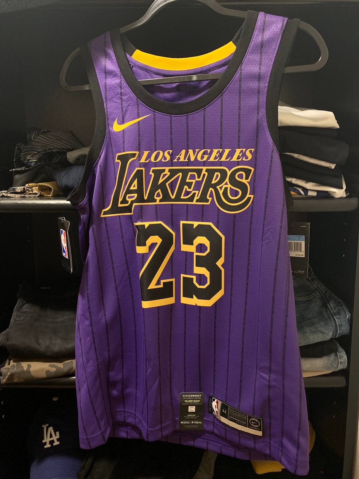 18af3413 Nike Lebron James Lakers City Edition Swingman Jersey M | Grailed